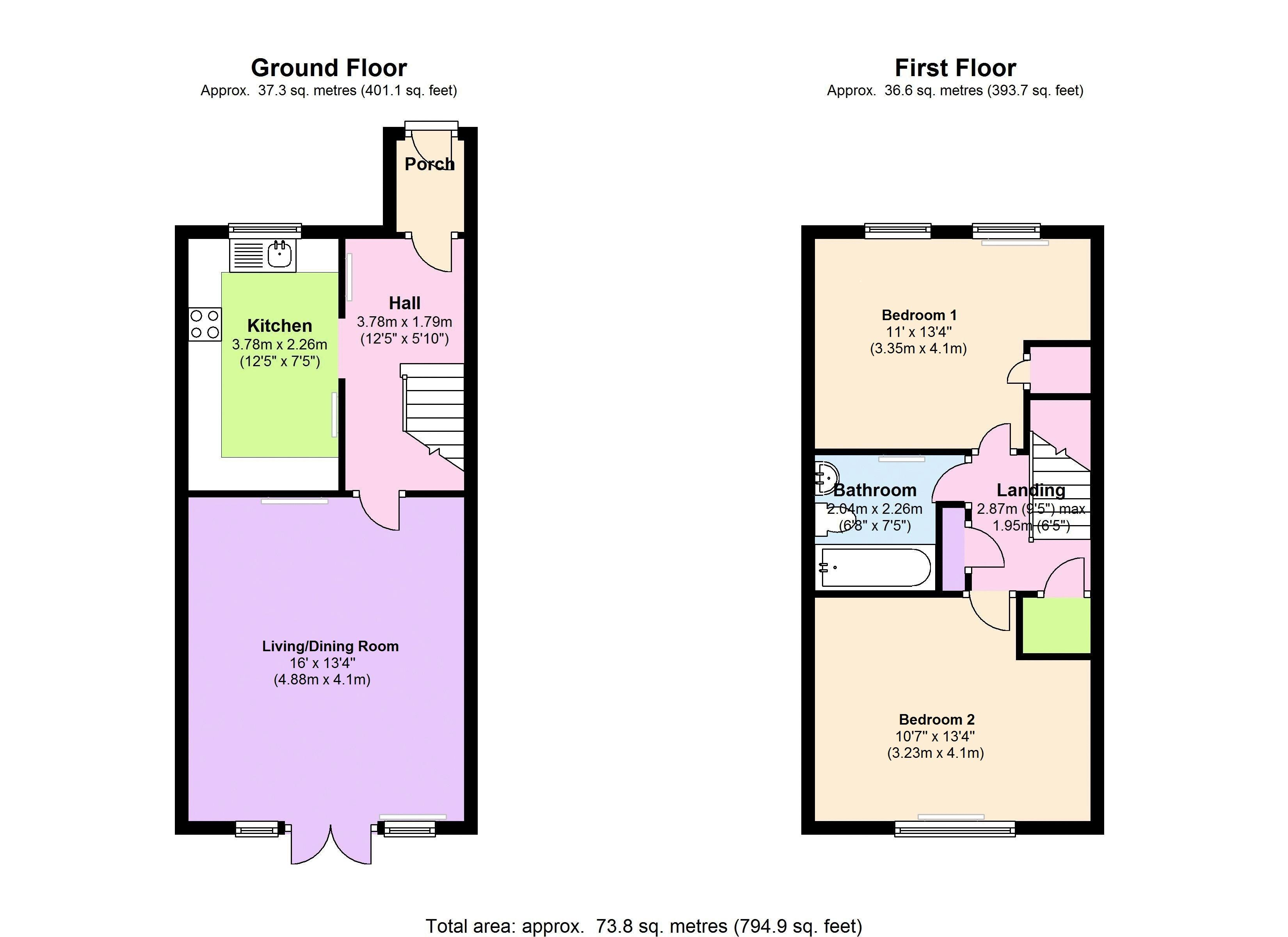 Shaw Road, London, SE22. floor plan