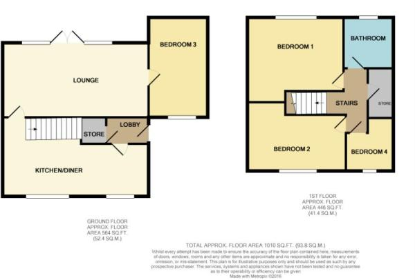 Water Royd Crescent, Mirfield, WF14 floor plan