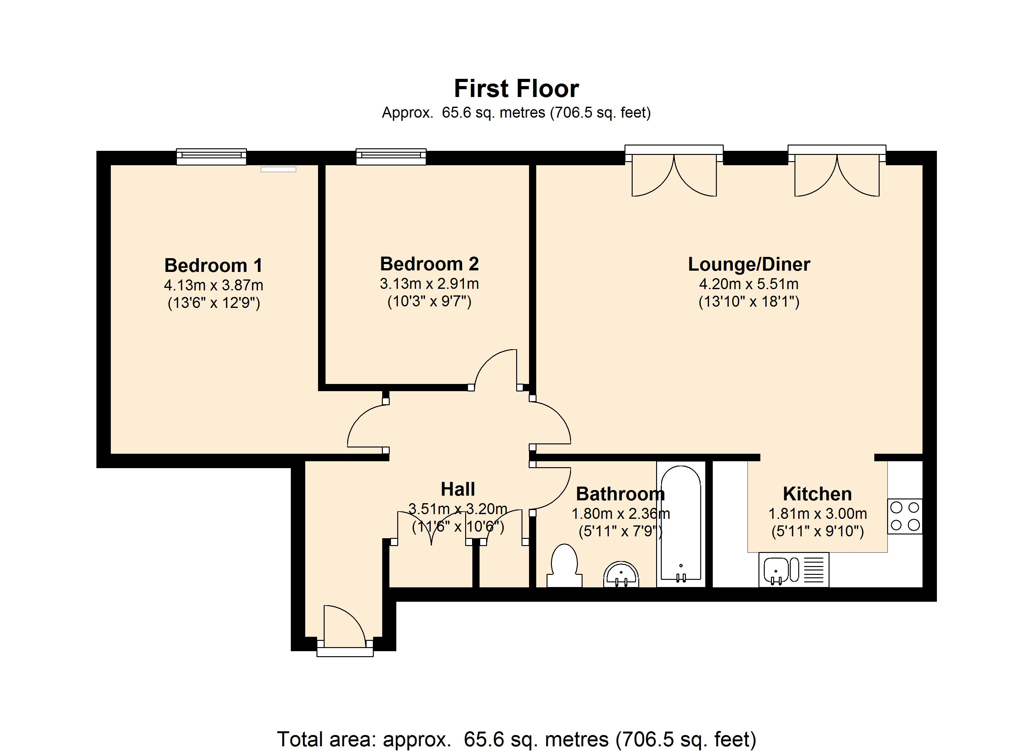 Stair case 12 , Flat 13, Kempton Court, 2 Durward Street, London, E1 floor plan