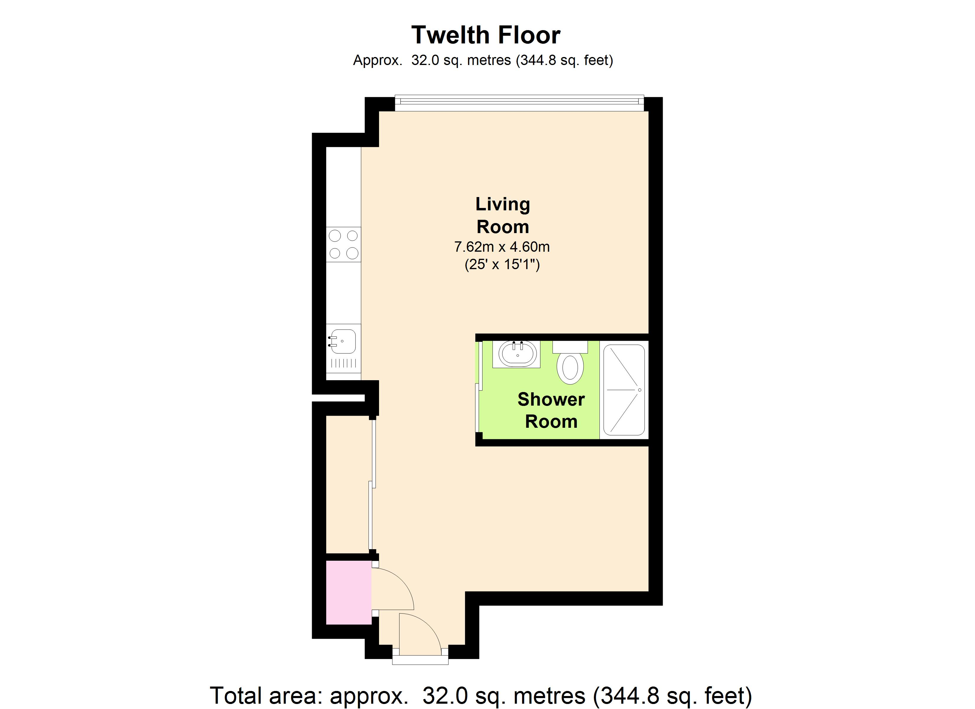 Ontario Tower, 4 Fairmont Avenue, London, E14 floor plan