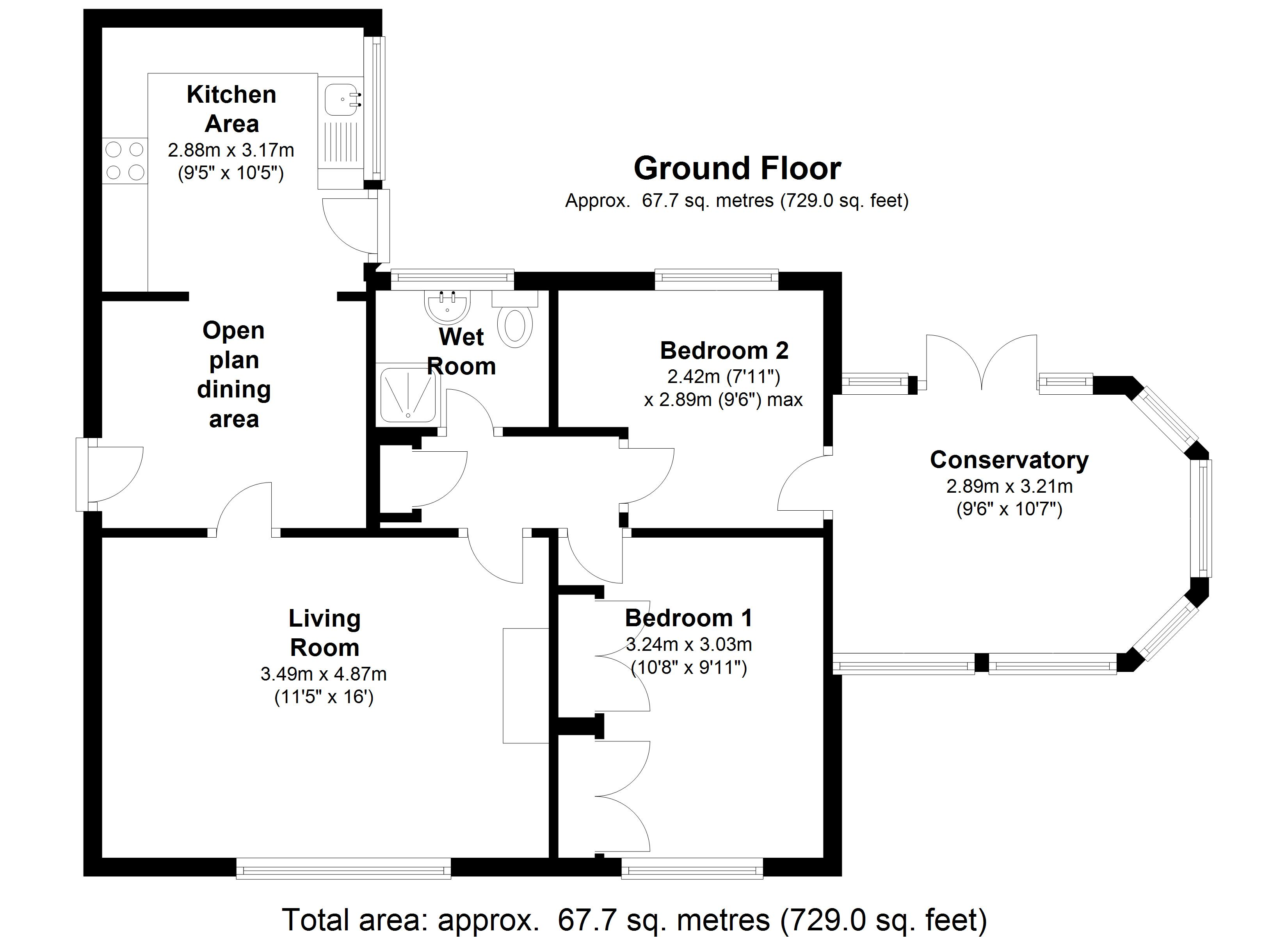 Villa Close, Selby, YO8 floor plan