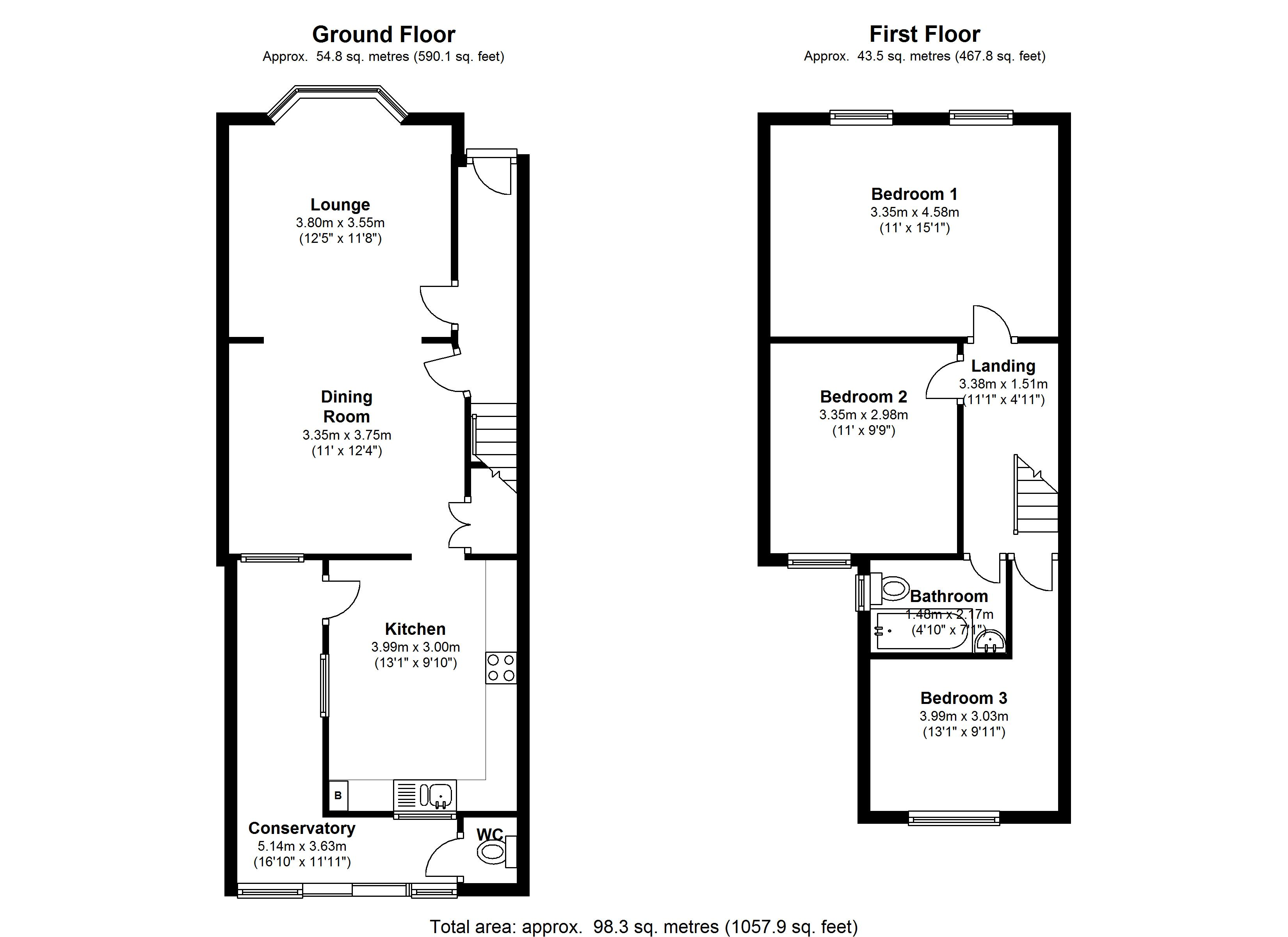Kingsland Road, London, E13 floor plan