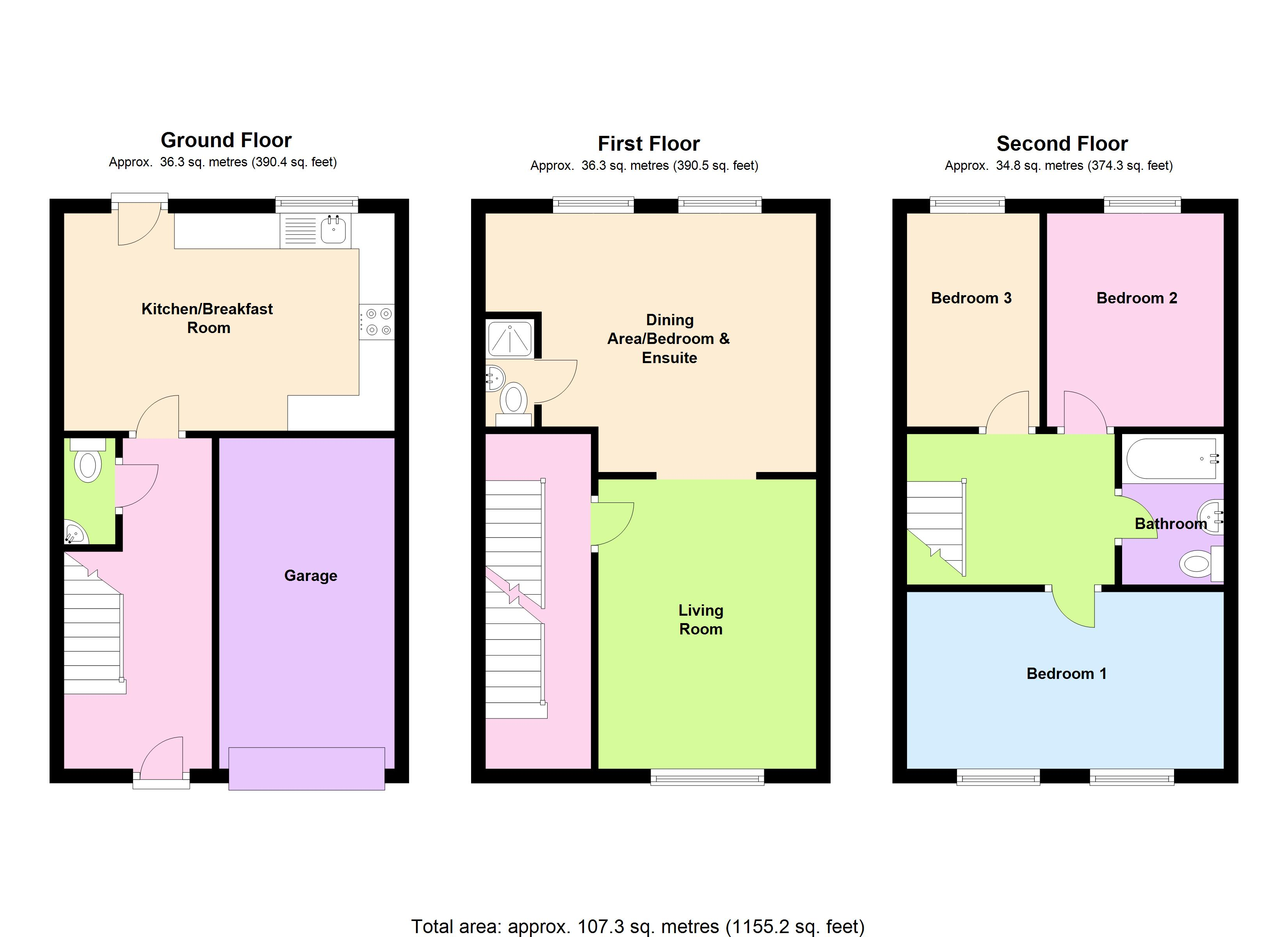 Theaks Mews, Taunton, TA1 floor plan