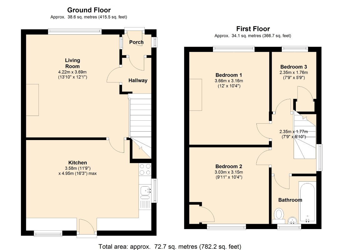 Sunnyview Avenue, Leeds, LS11 floor plan