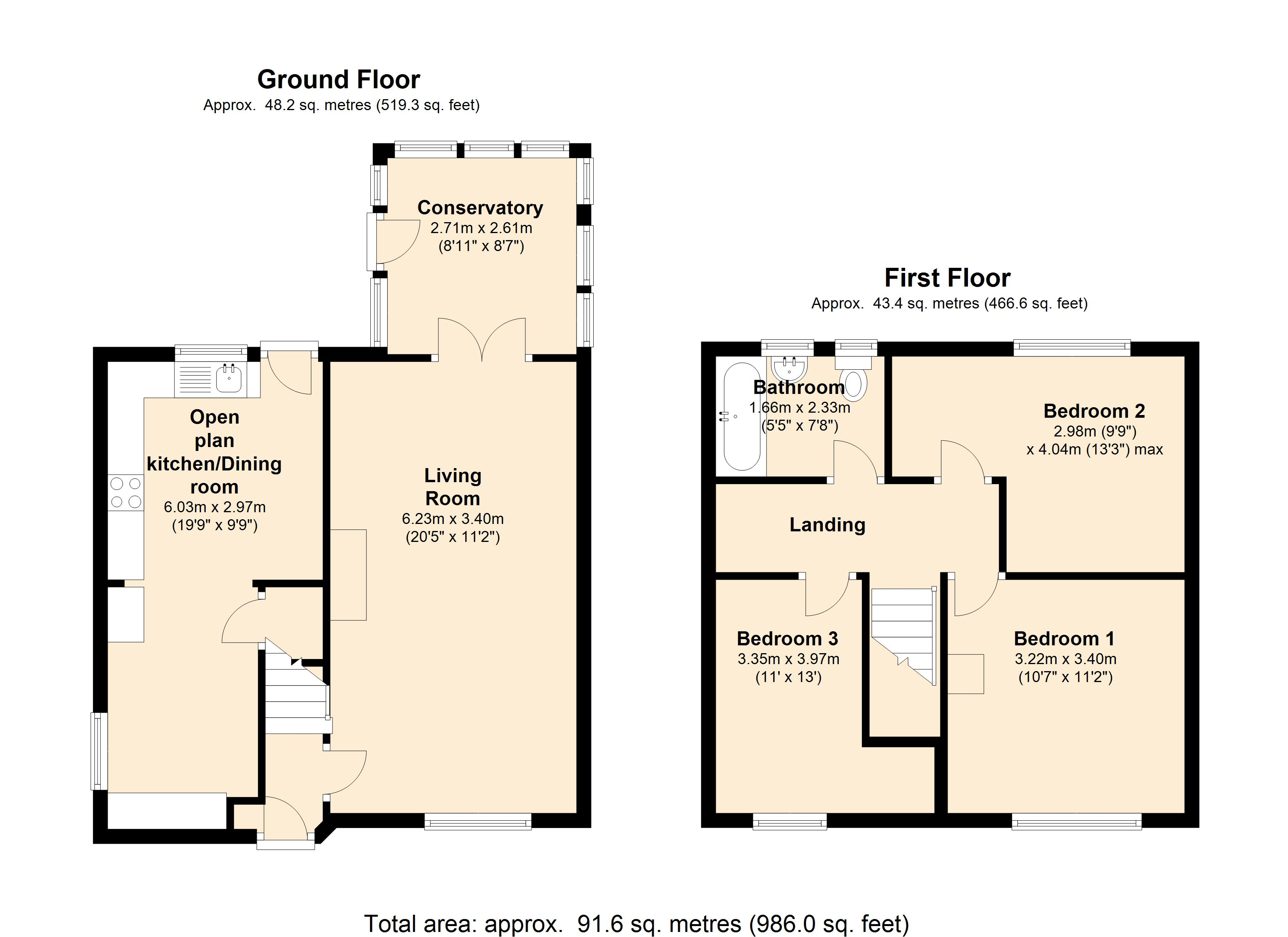 Woodhall Grove, Leeds, LS26 floor plan