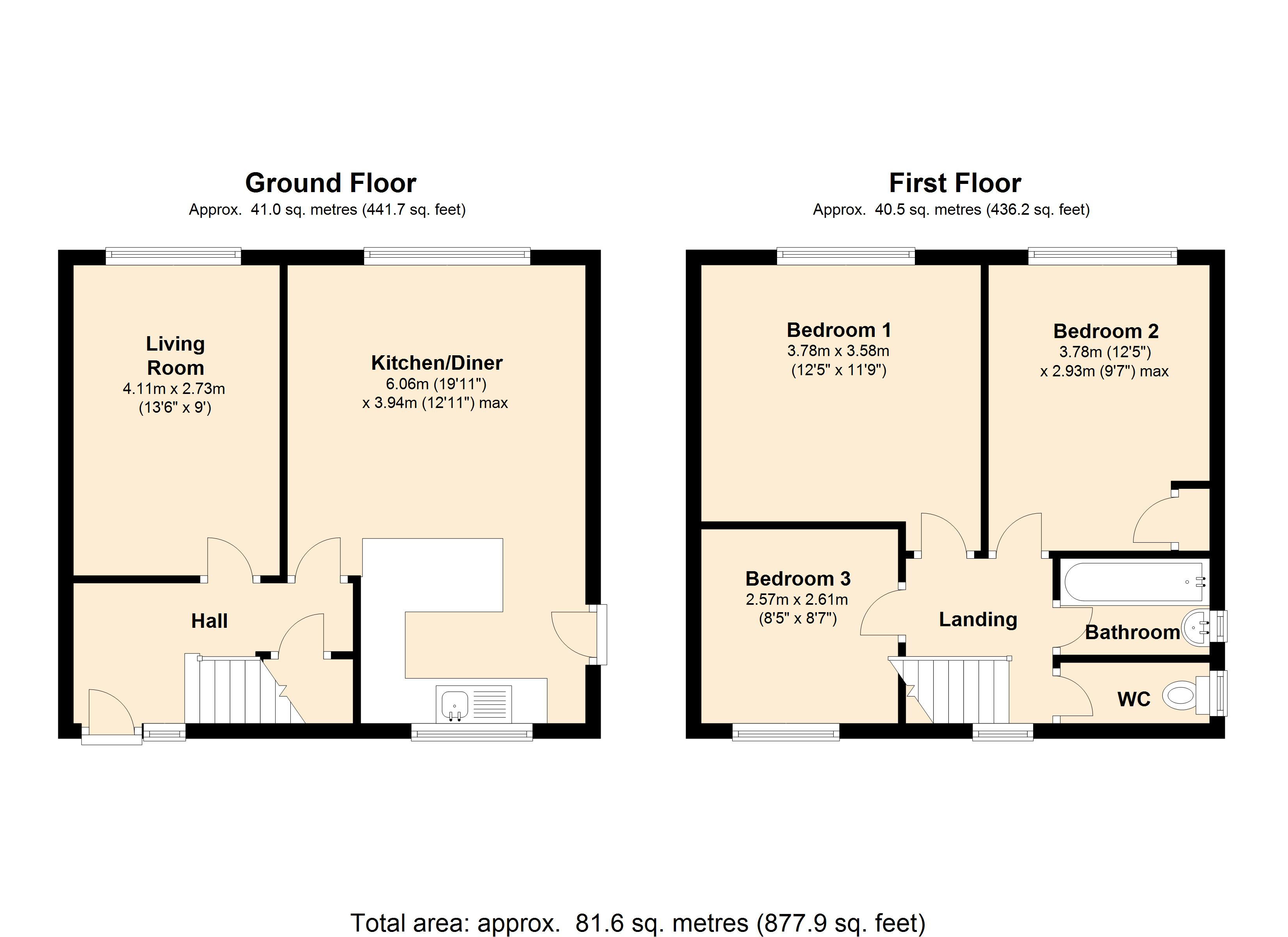 Middlefields Drive, Whiston, S60 floor plan