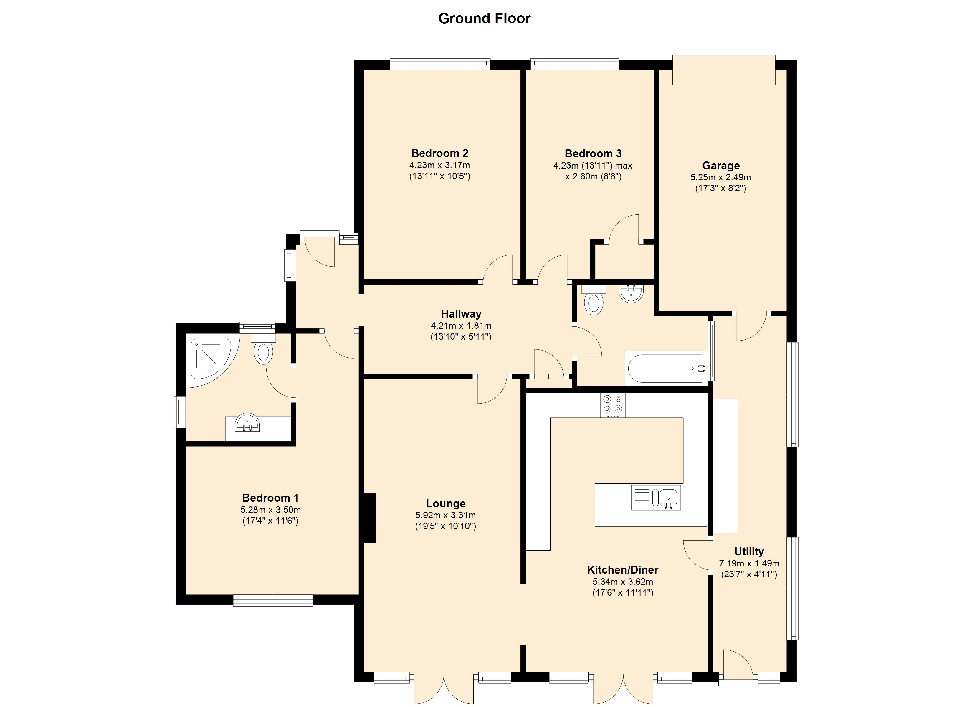 The Orchard, Flore, NN7 floor plan