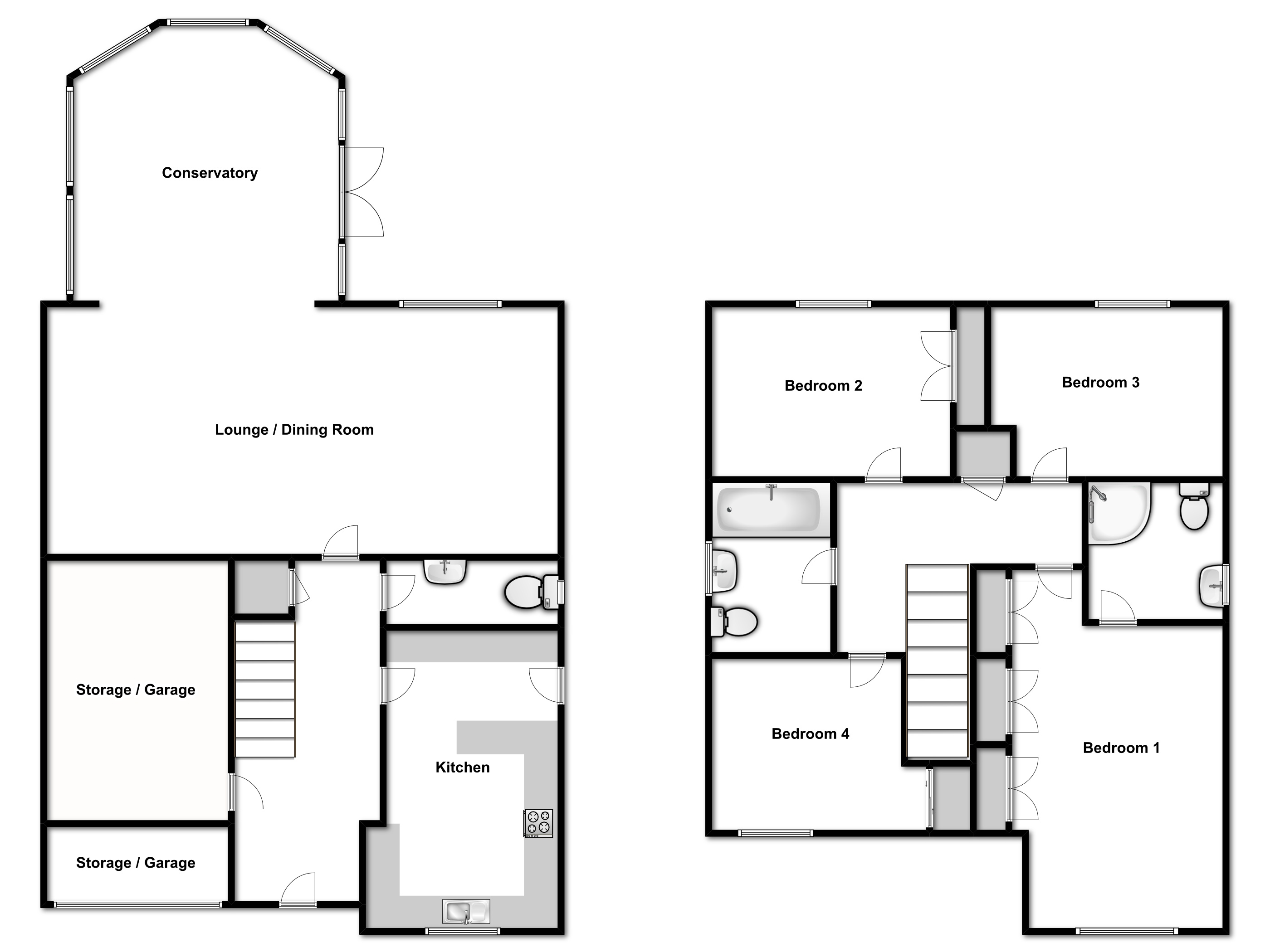 Virginia Close, Romford, floor plan