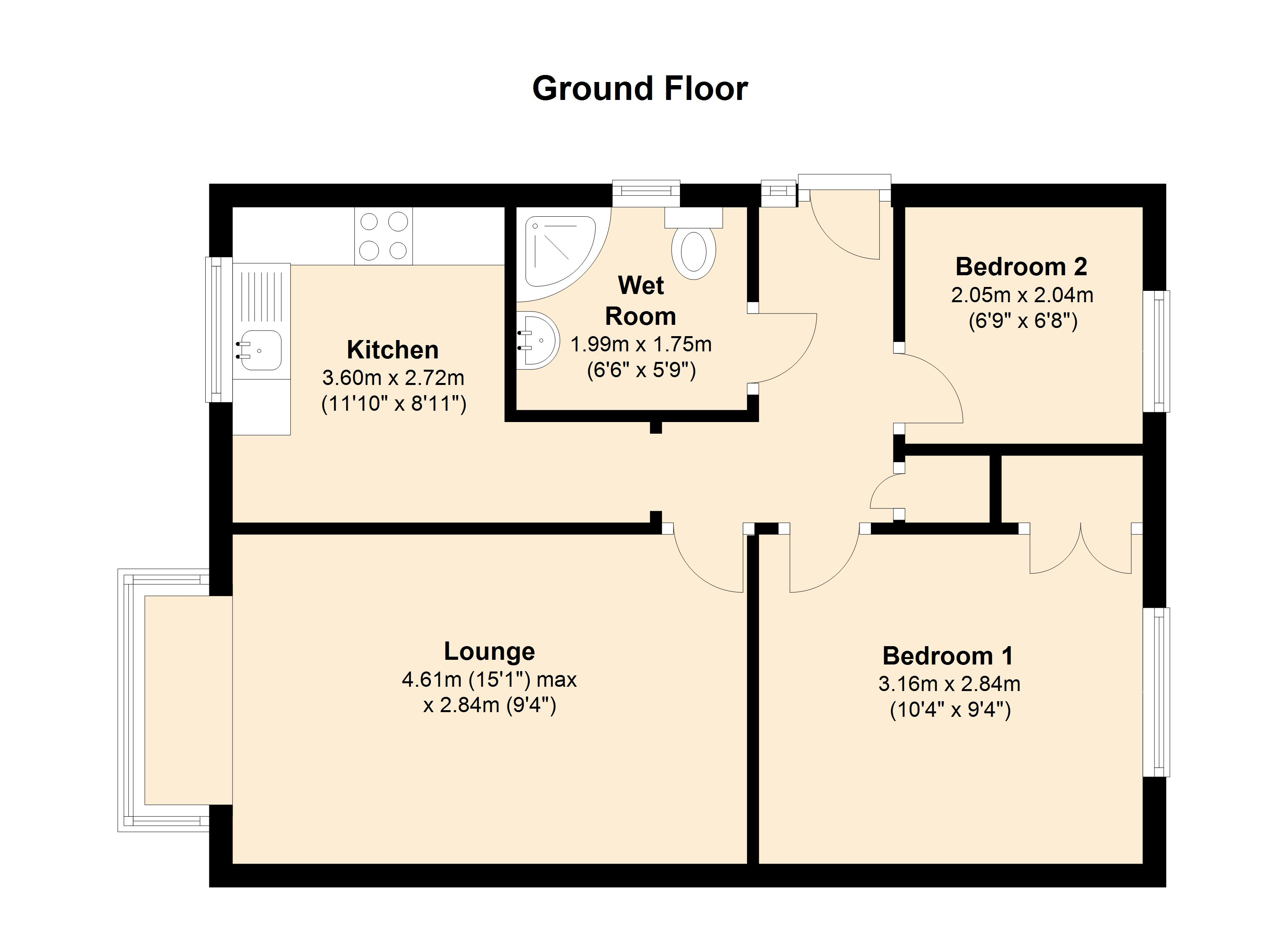 Primrose Way, Queniborough, LE7 3UJ floor plan