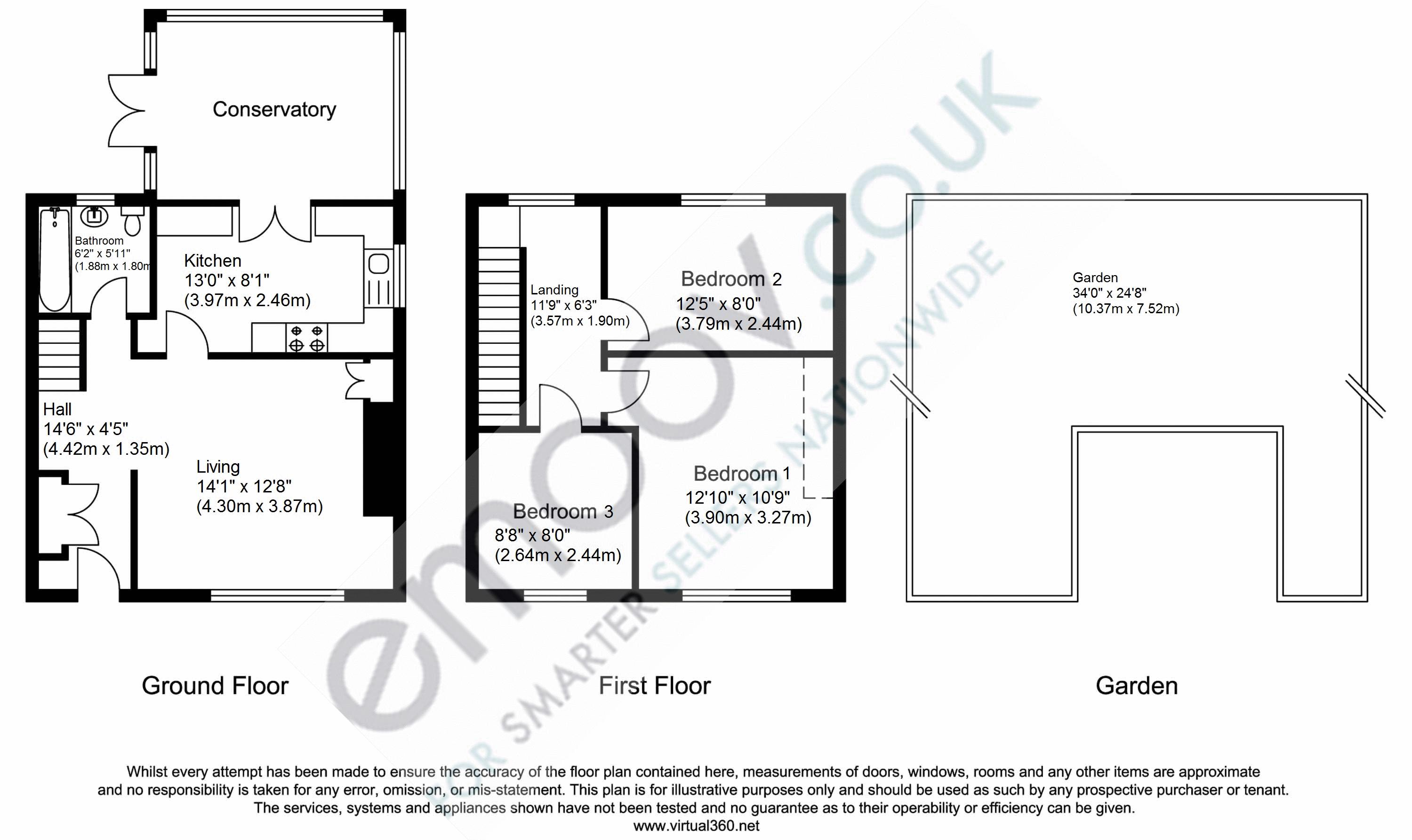 Cherry Crescent, Brentford, TW8 floor plan