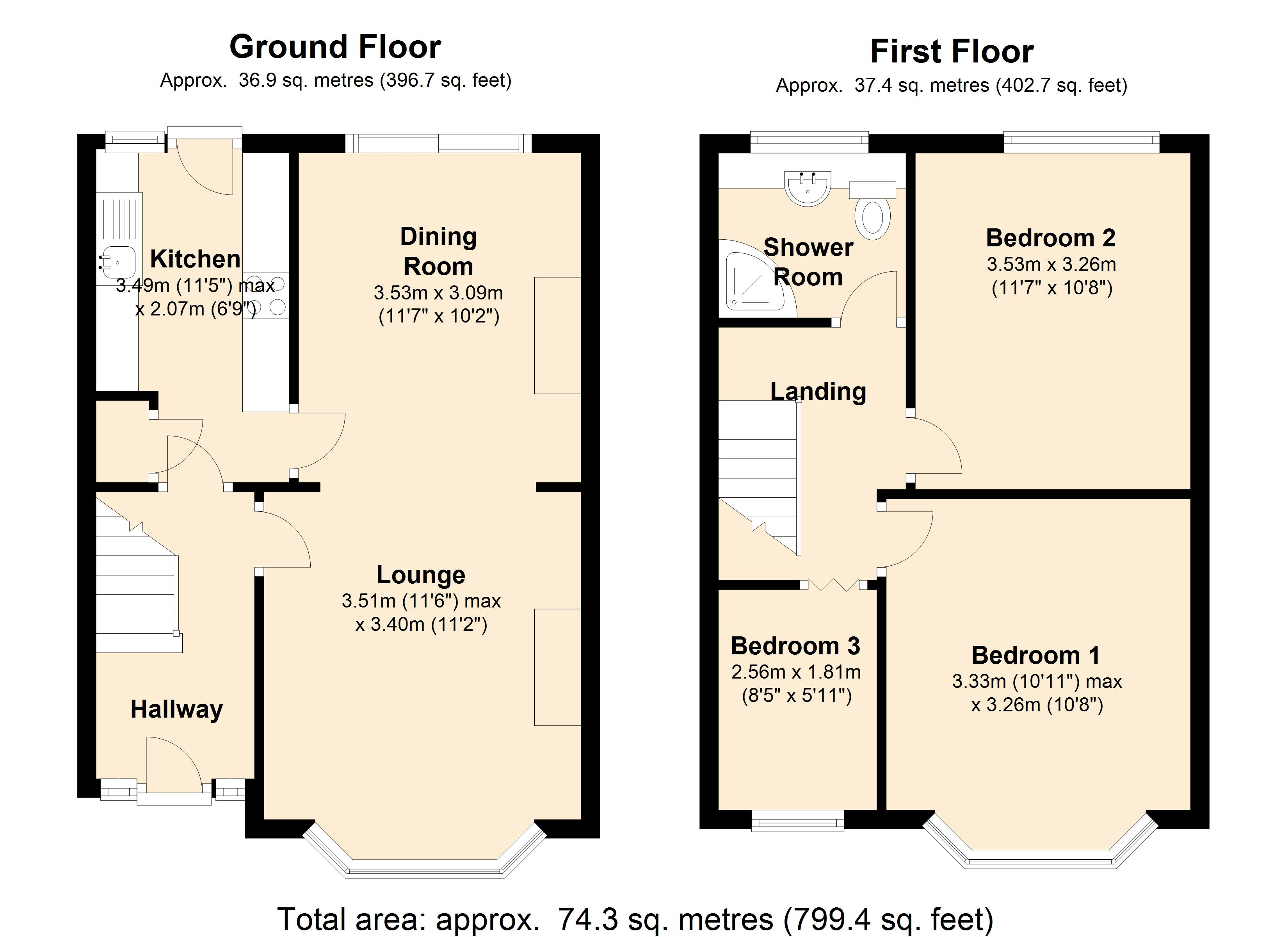 South Hall Drive, Rainham, RM13 floor plan