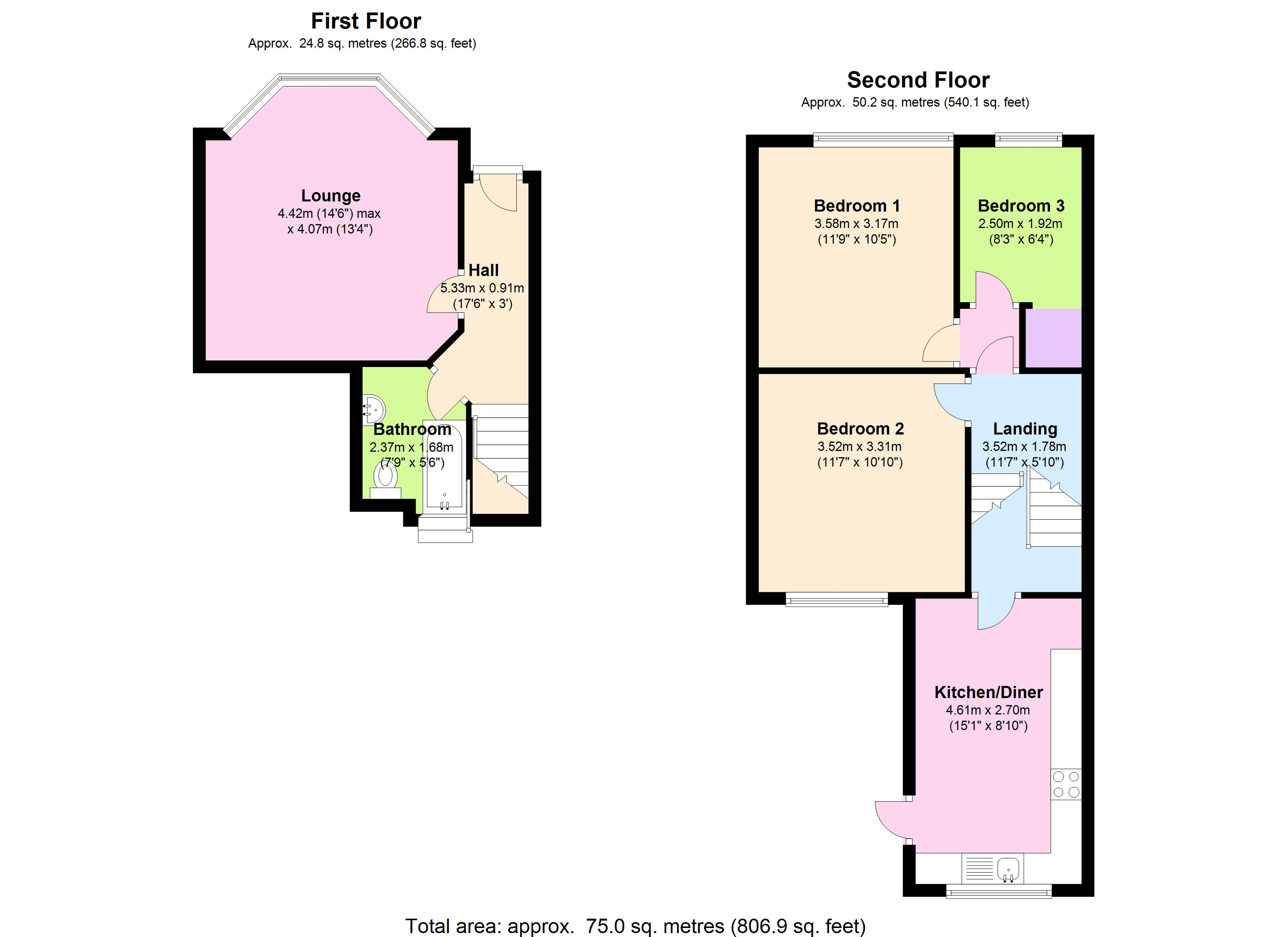Old Ford Road, London, E3 floor plan