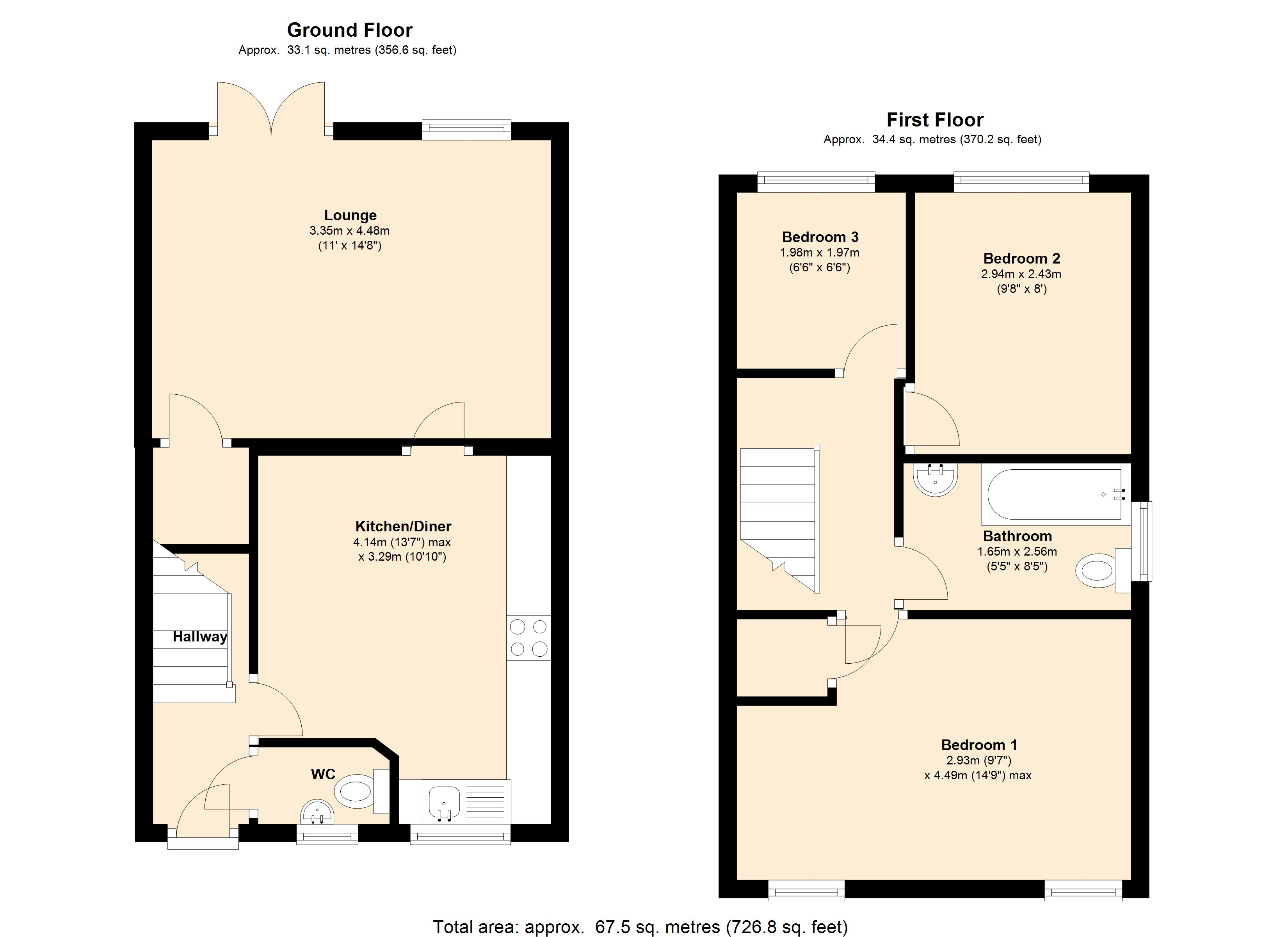 Redberry Avenue, Heckmondwike, WF16 floor plan