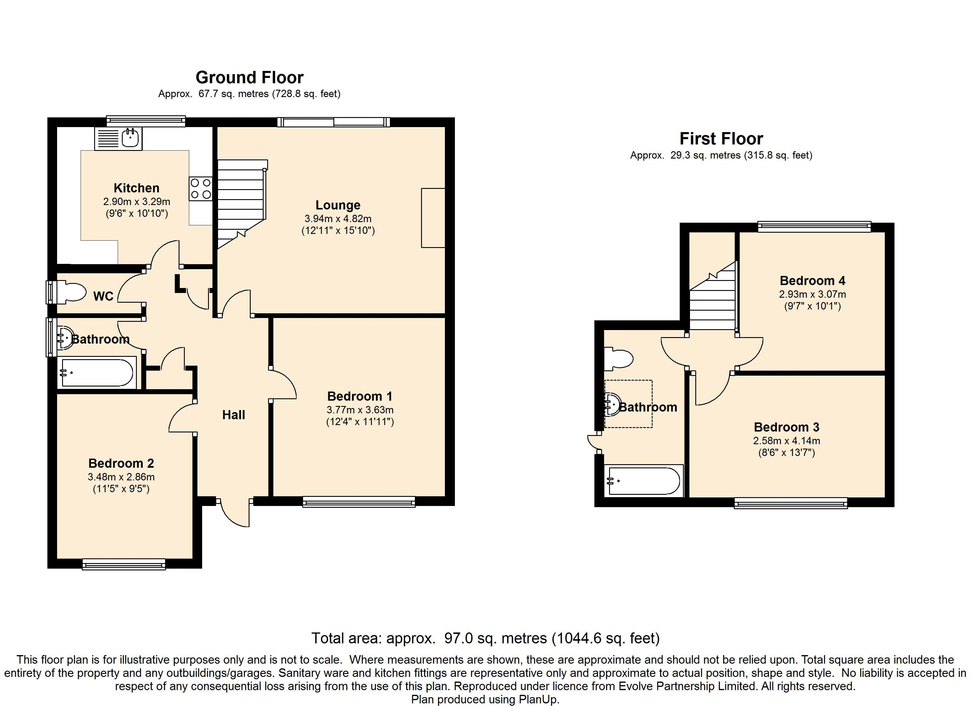 Tyedean Road, Telscombe Cliffs floor plan