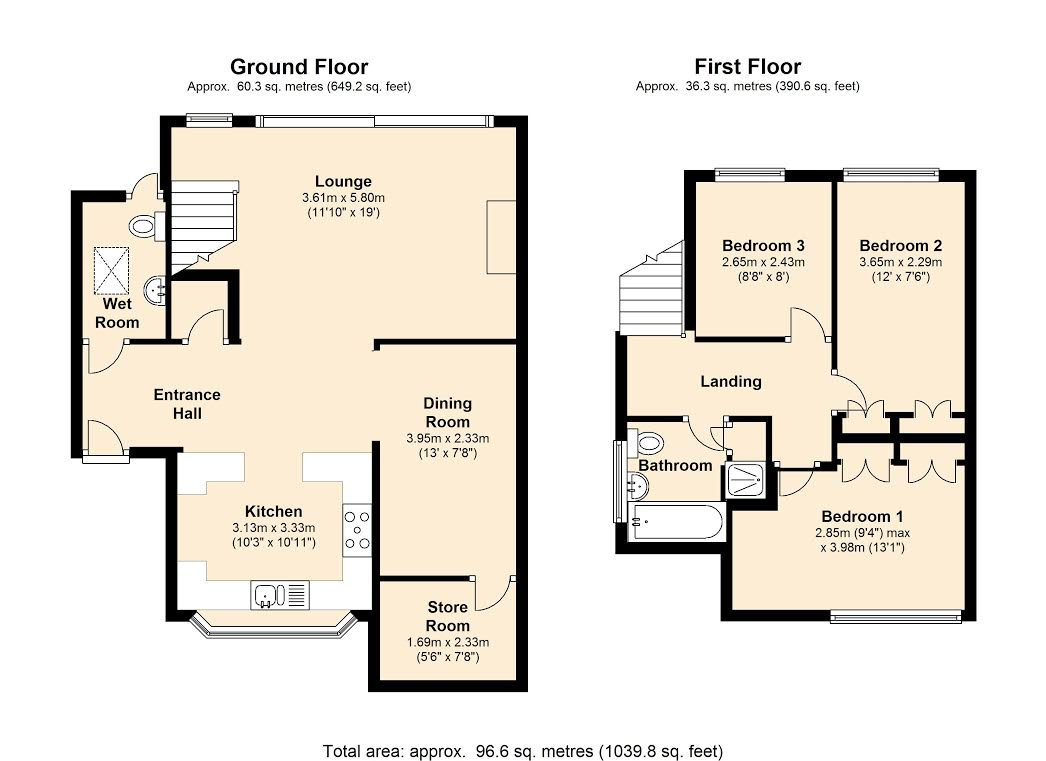 Mount Pleasant Road, South Woodham Ferrers, Essex, CM3 floor plan
