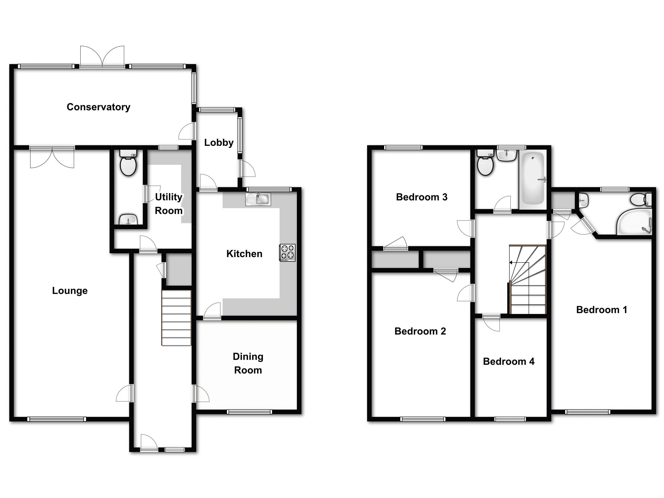 Churchwell Avenue, Easthorpe, Colchester floor plan