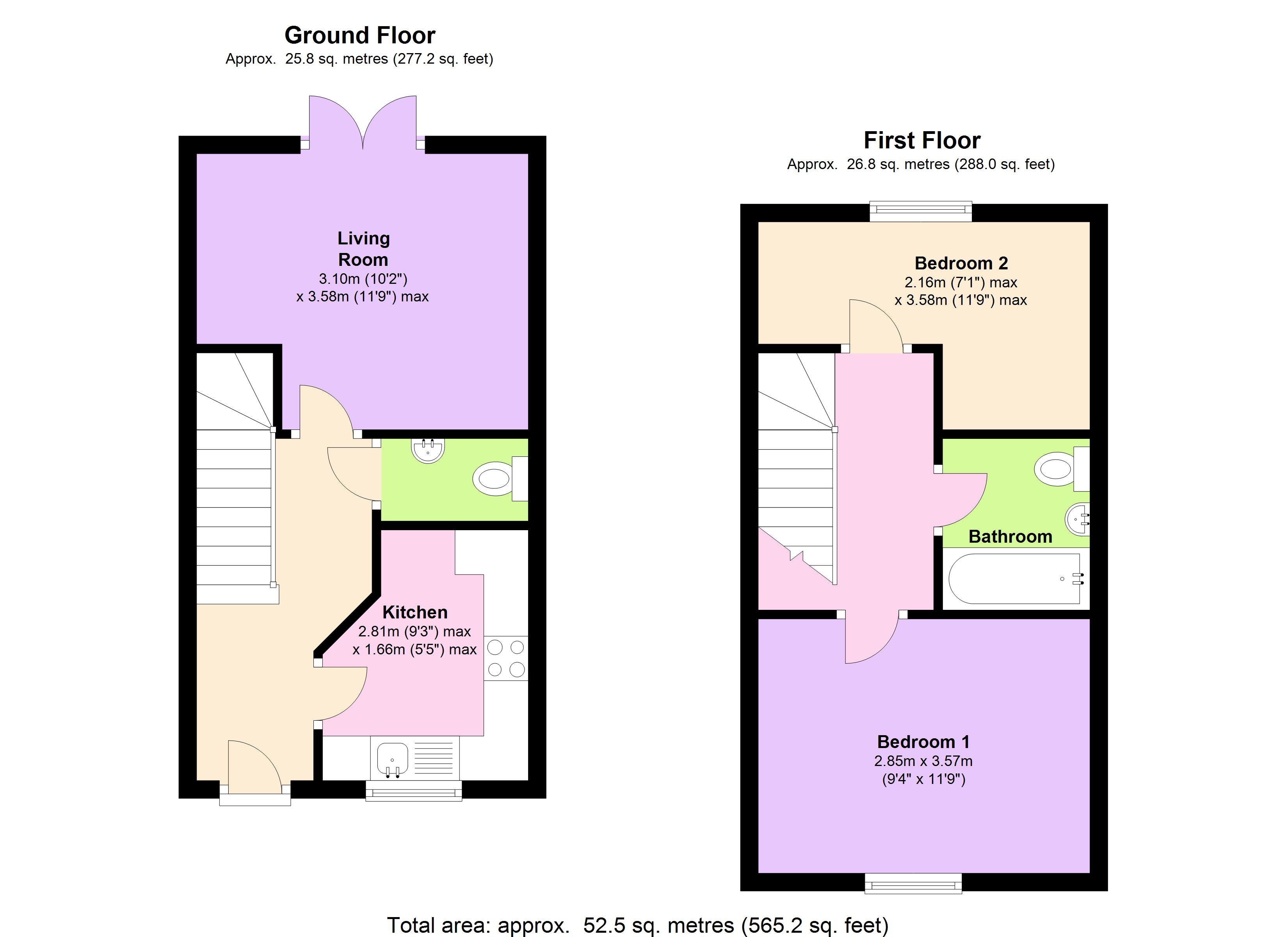 Higher Meadow, Exeter, EX5 floor plan