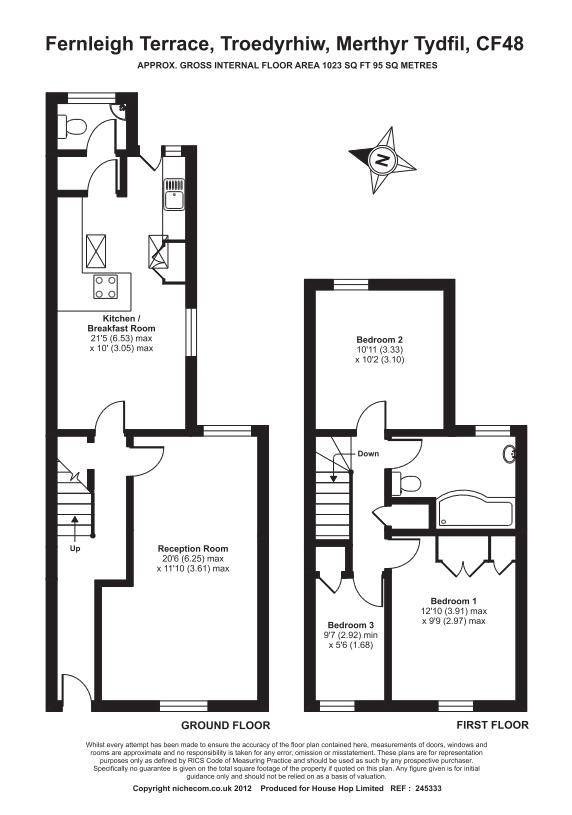 Fernleigh Terrace, Merthyr Tydfil floor plan