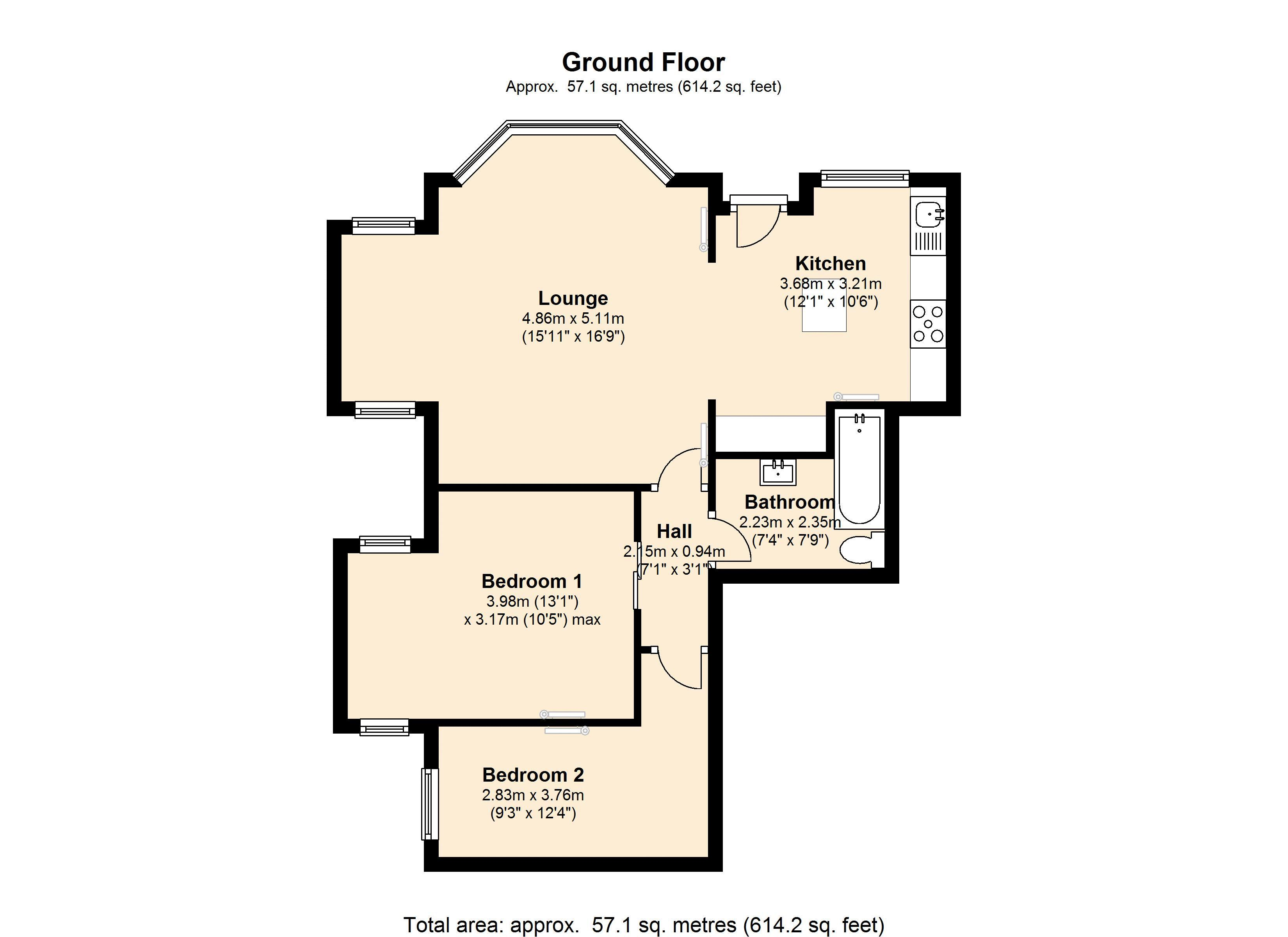 Queens Walk, London, W5 floor plan