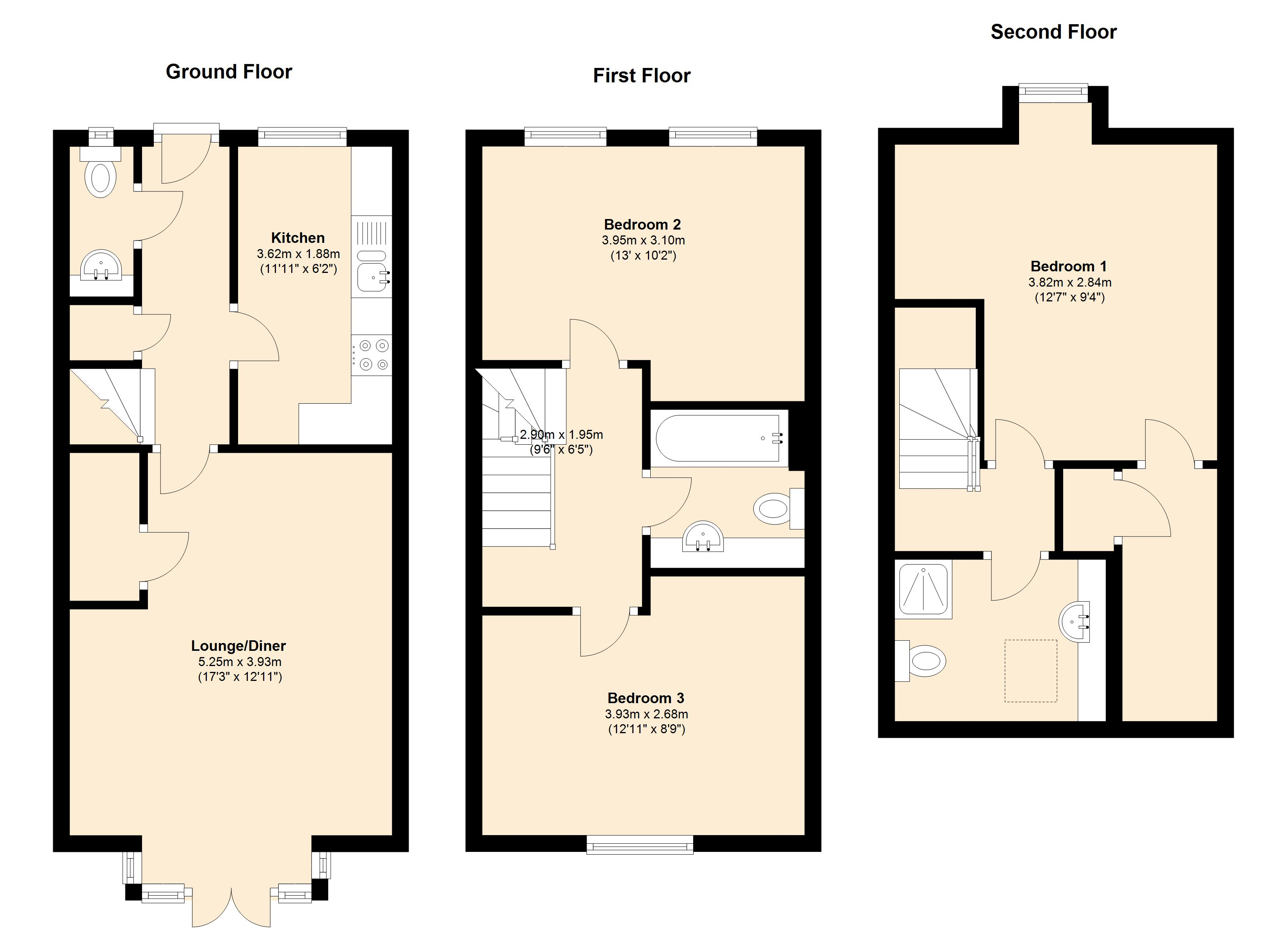 Melody Drive, Sileby, LE12 7UU floor plan