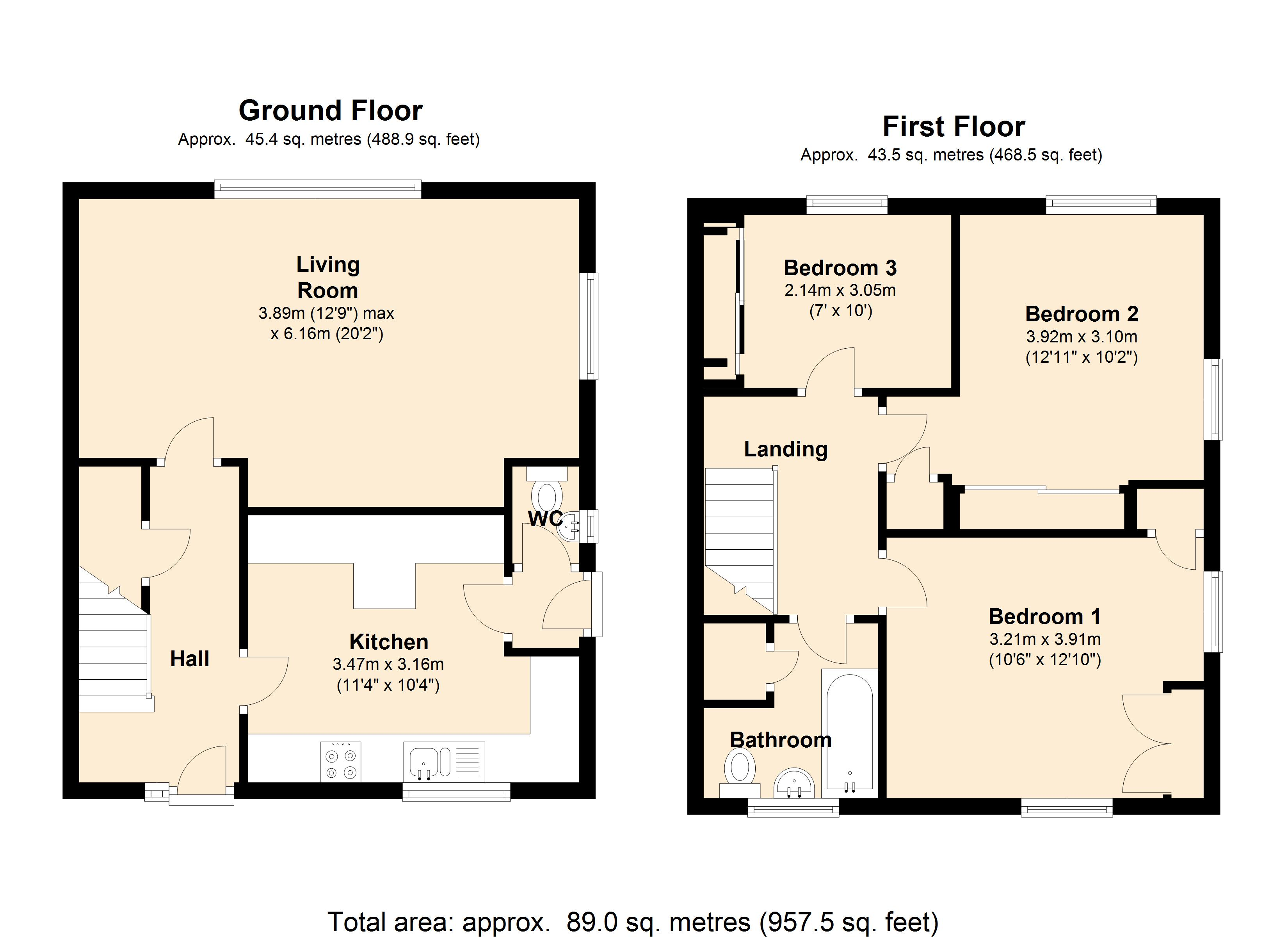 Ballifield Road Sheffield, S13 floor plan