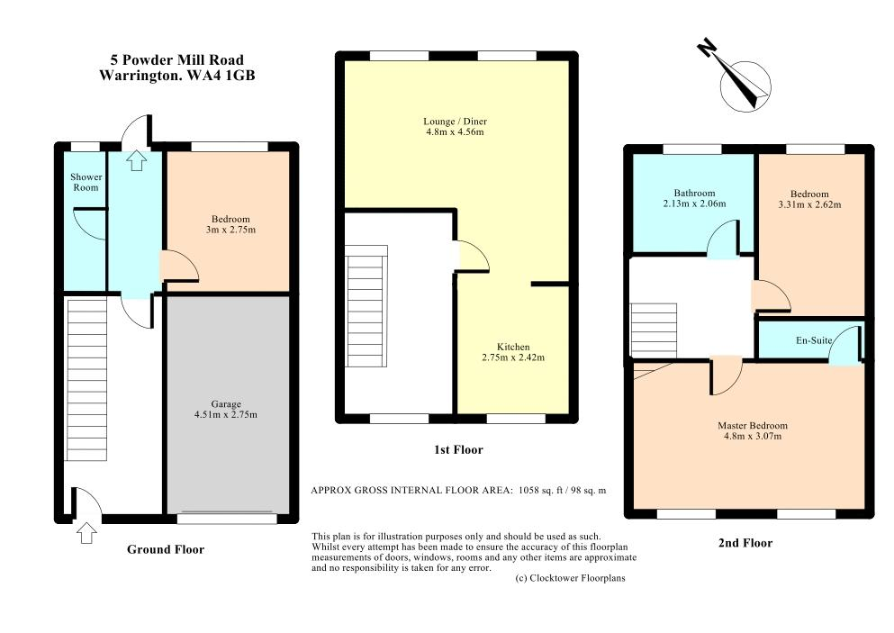 Powder Mill Road, Warrington floor plan