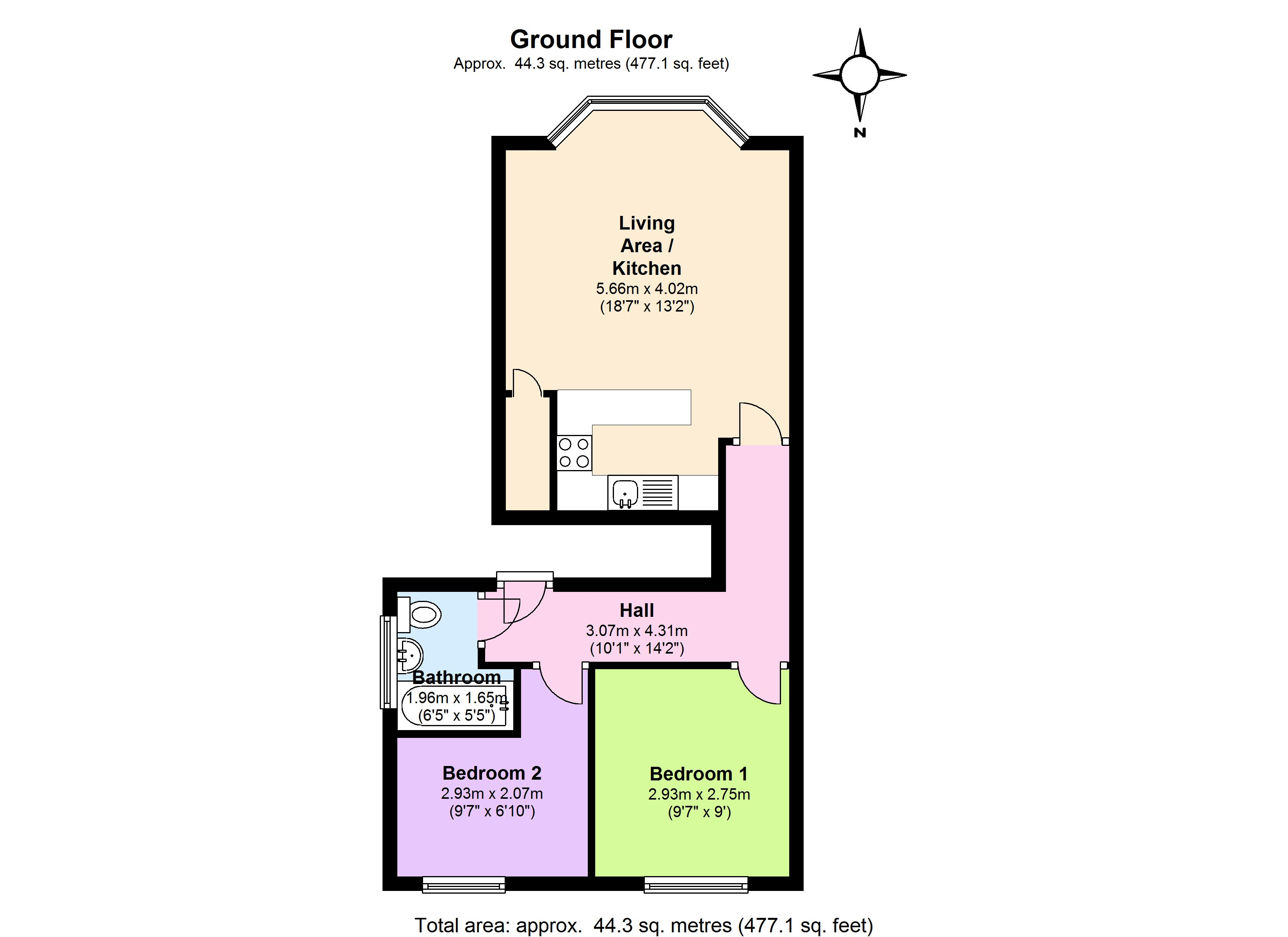 Churchfield Road, London, W13 floor plan