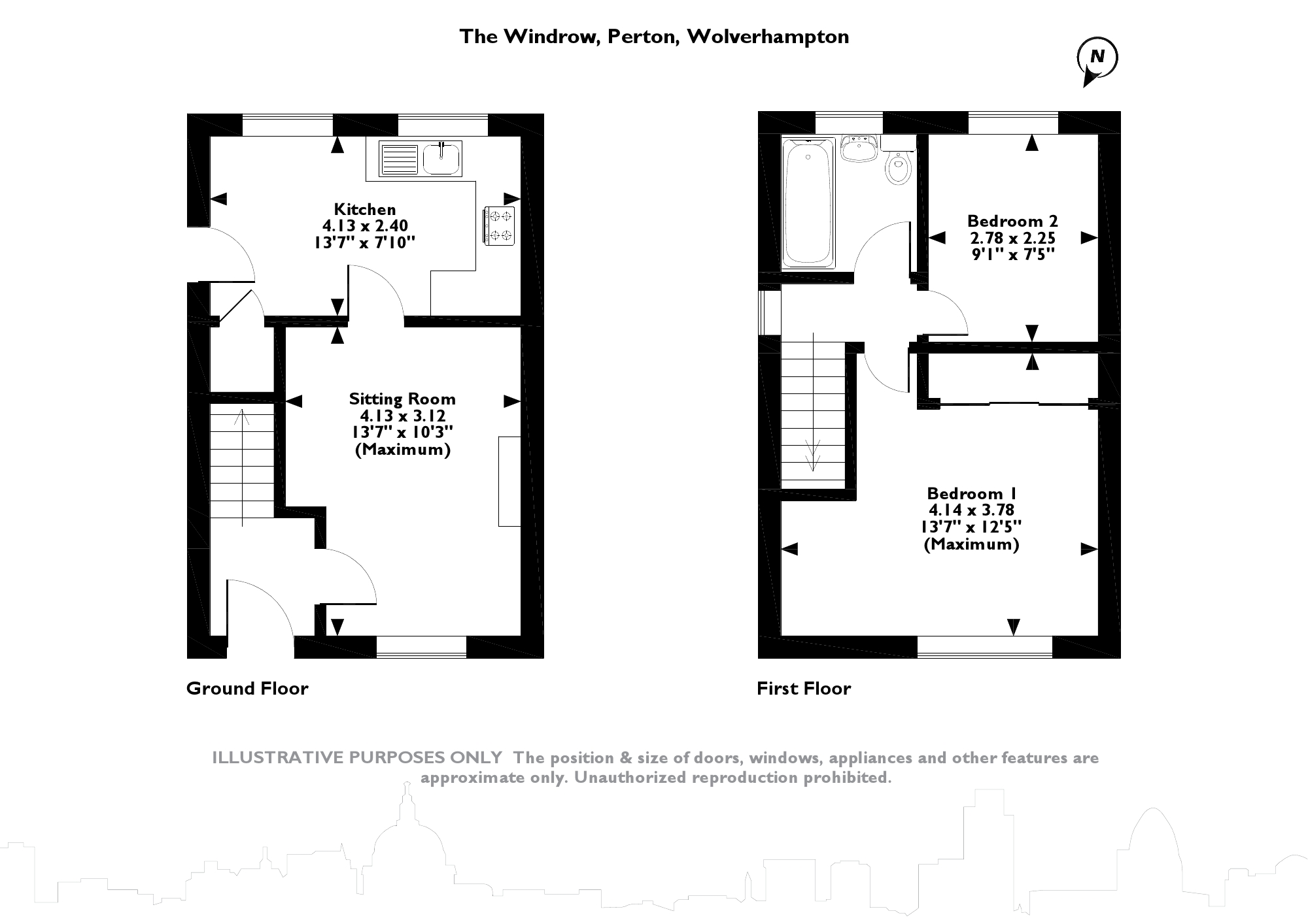 The Windrow, Perton, Wolverhampton floor plan