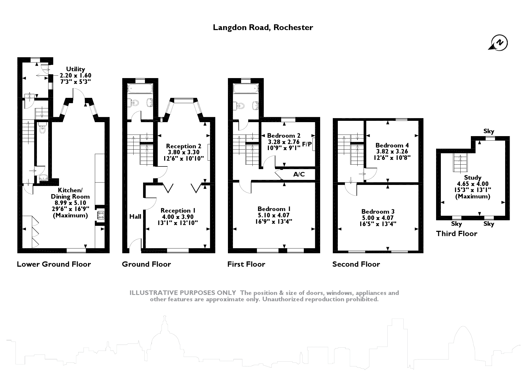 Langdon Road, Rochester, ME1 floor plan
