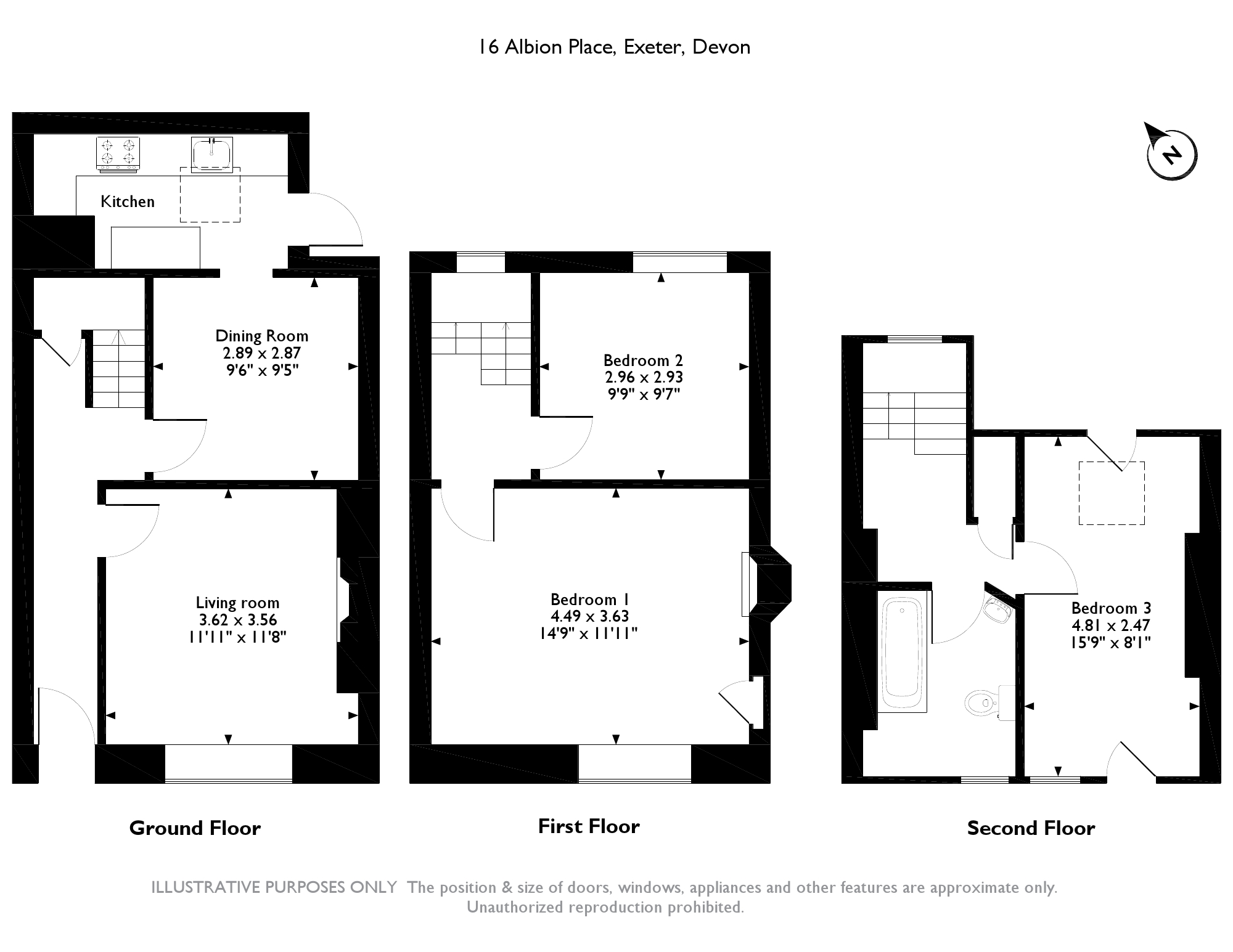 16 Albion Place, Exeter, EX4 6LH floor plan