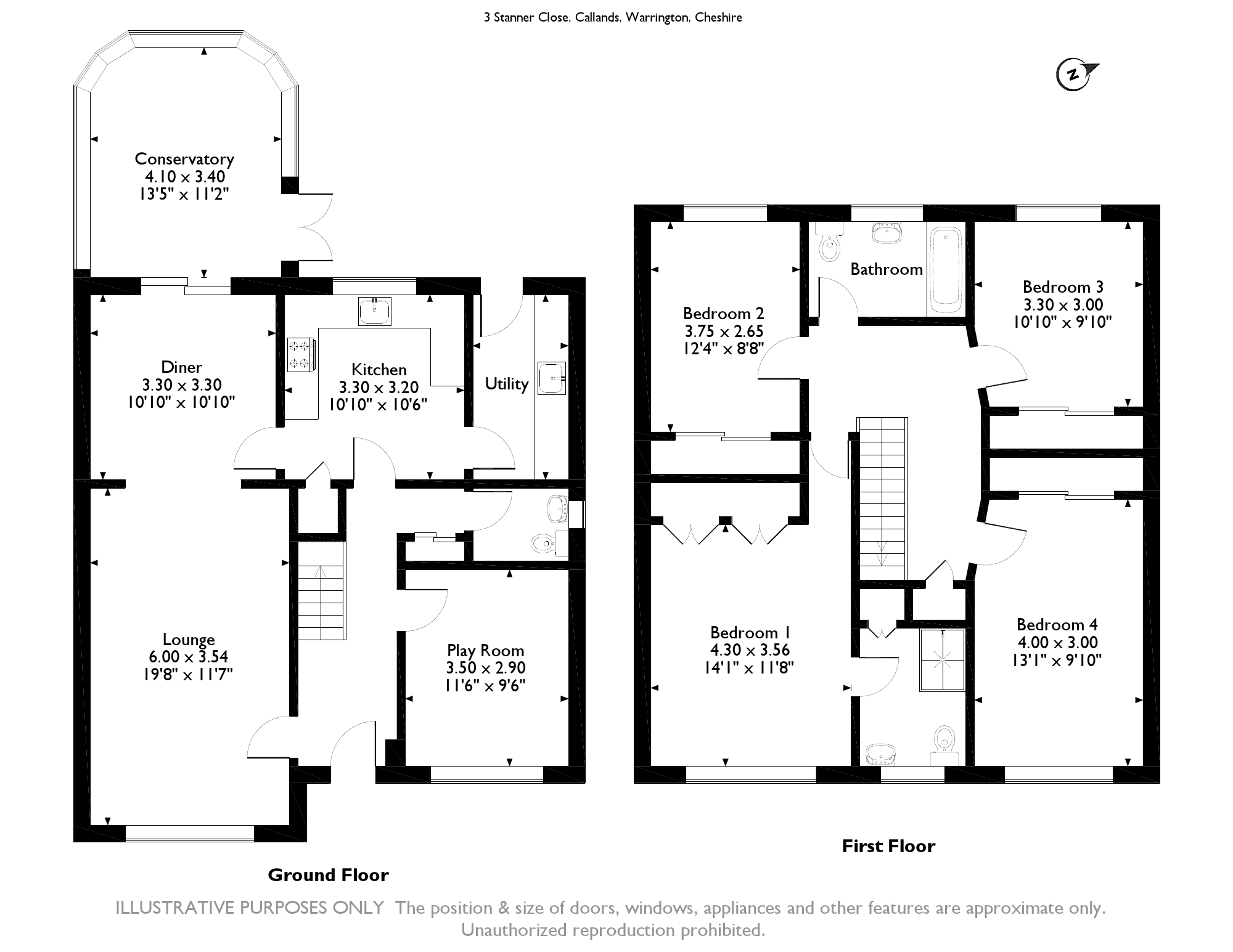 Stanner Close, Warrington, WA5 floor plan