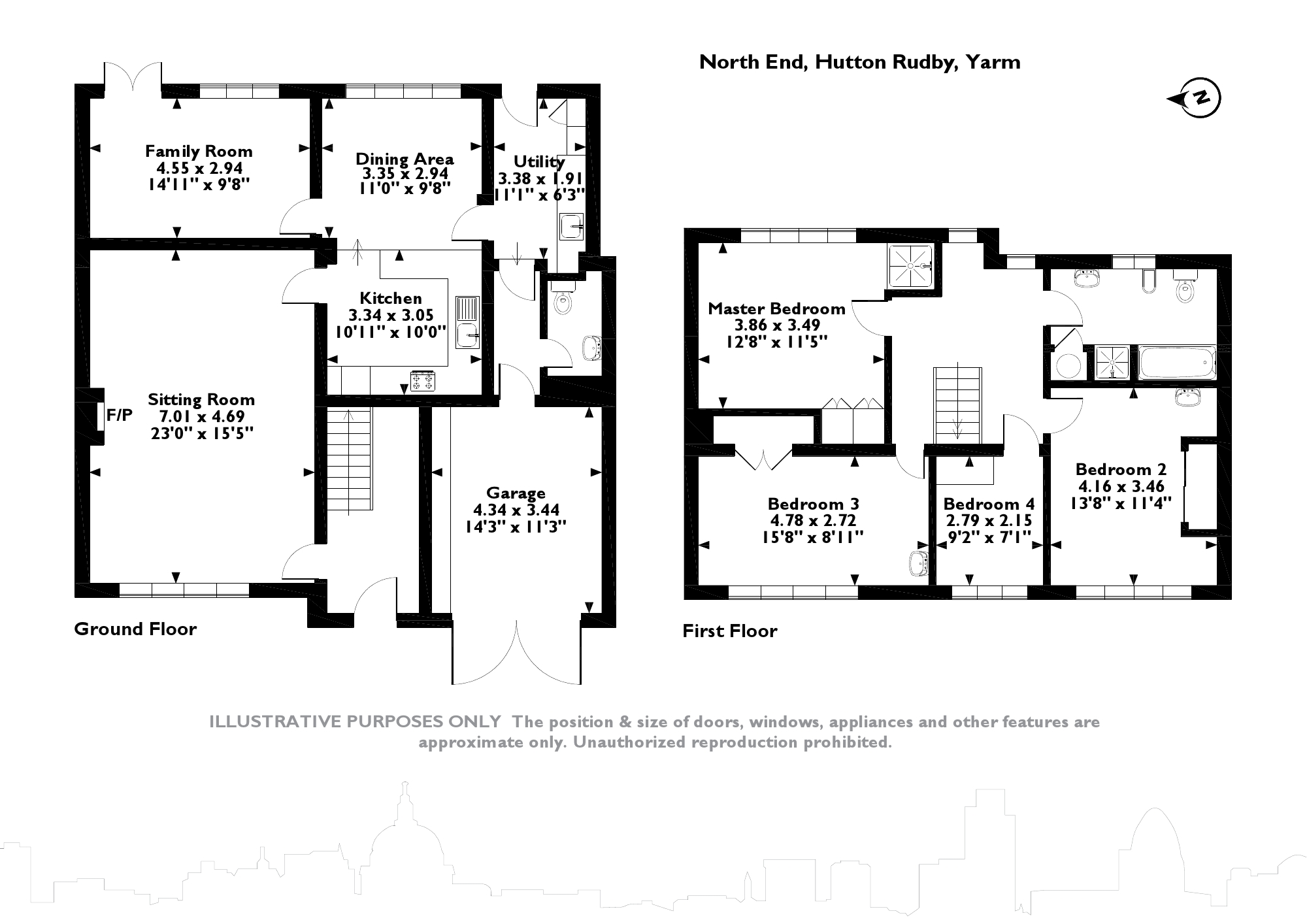 North End, Hutton Rudby,  Yarm, TS15 floor plan