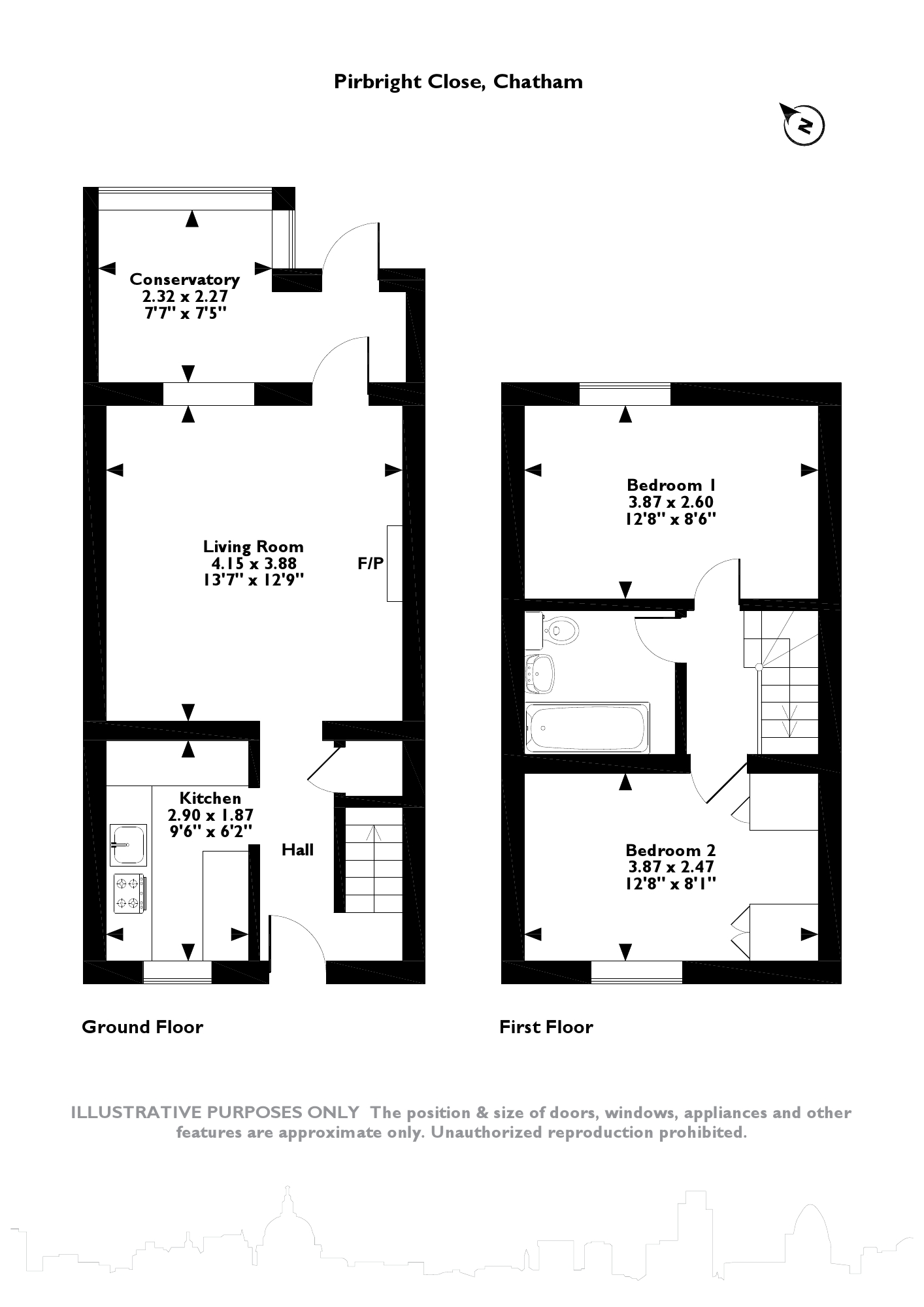Pirbright Close, Chatham, ME5 floor plan