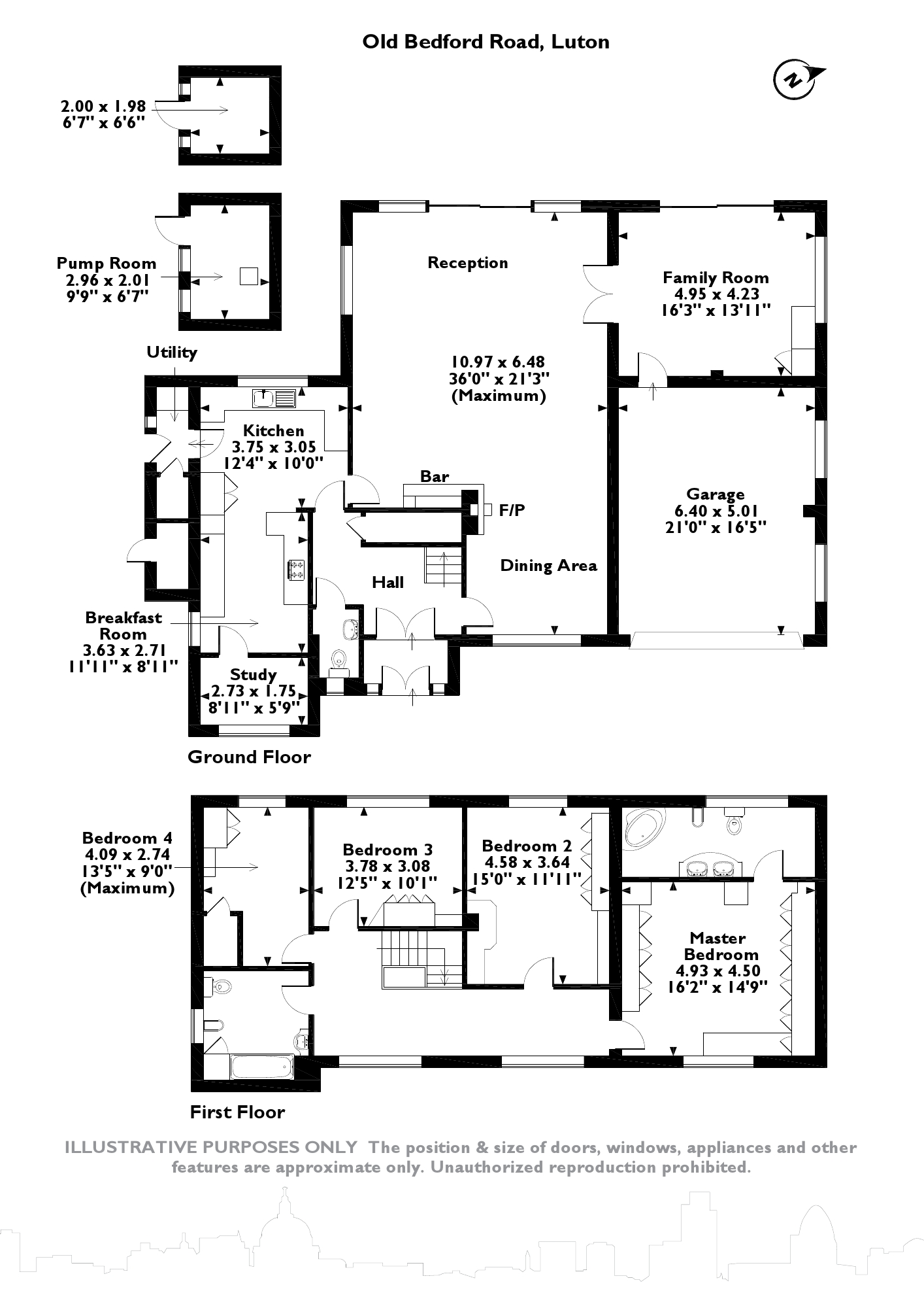 Old Bedford Road, Luton, LU2 floor plan