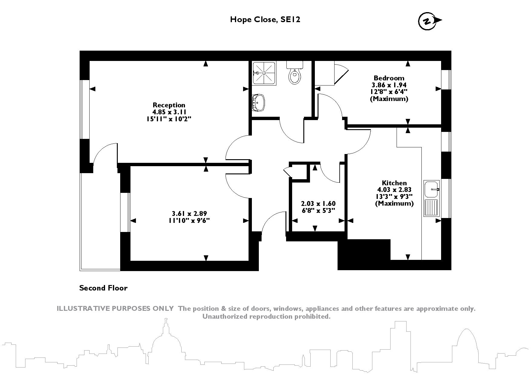 Hope Close, London, SE12 floor plan