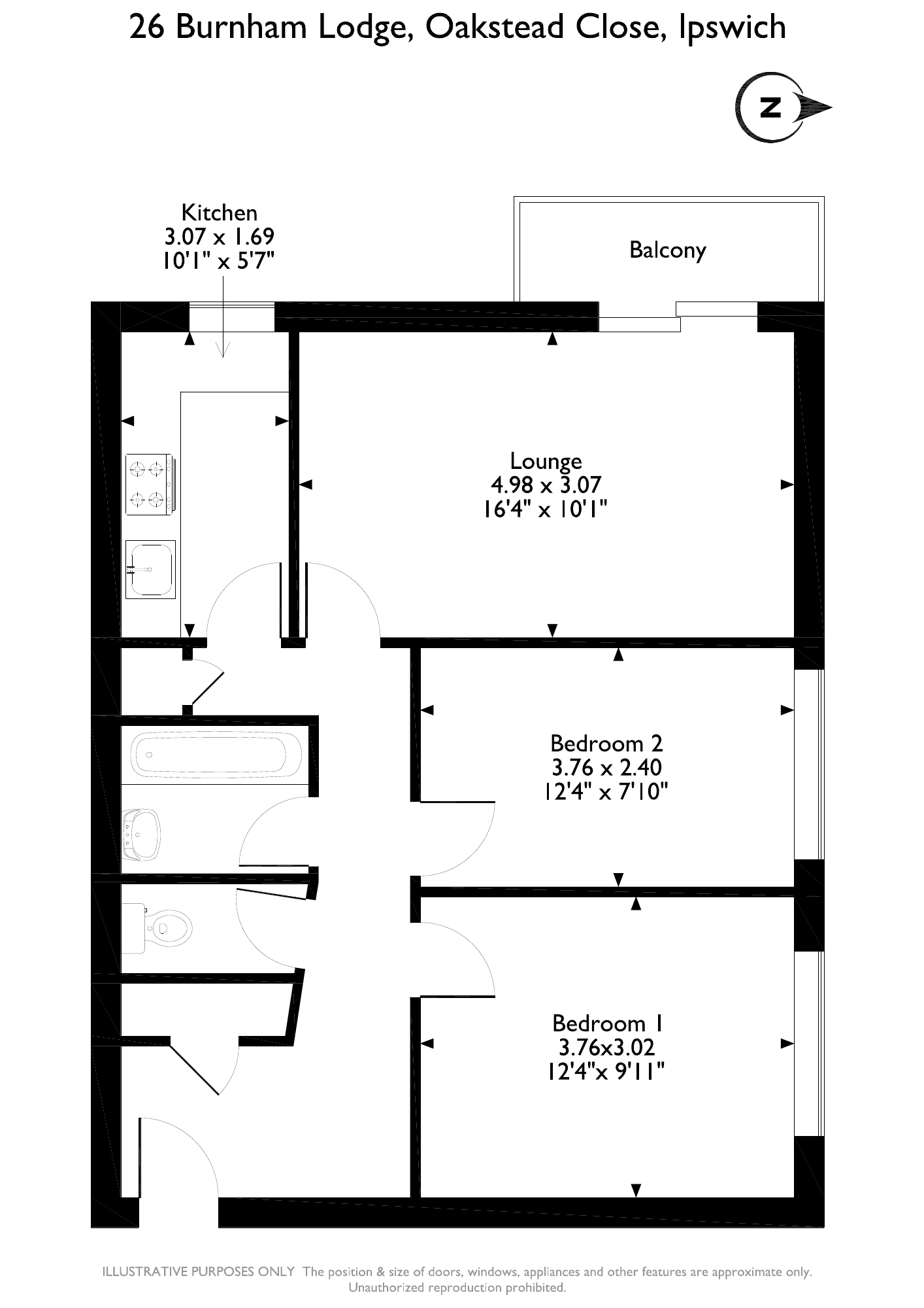 Oakstead Close, Ipswich, IP4 floor plan