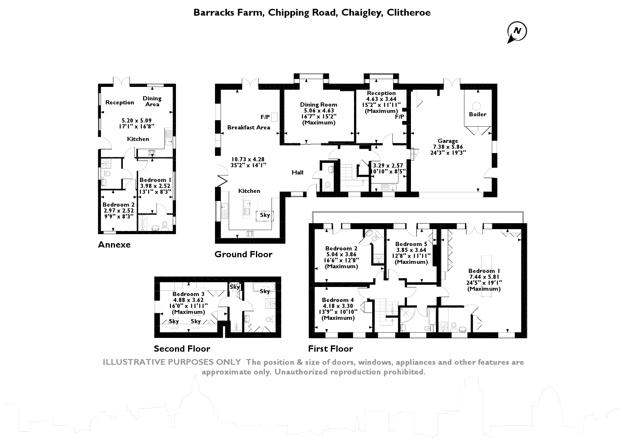 Chipping Road, Chaigley, Clitheroe, BB7 floor plan