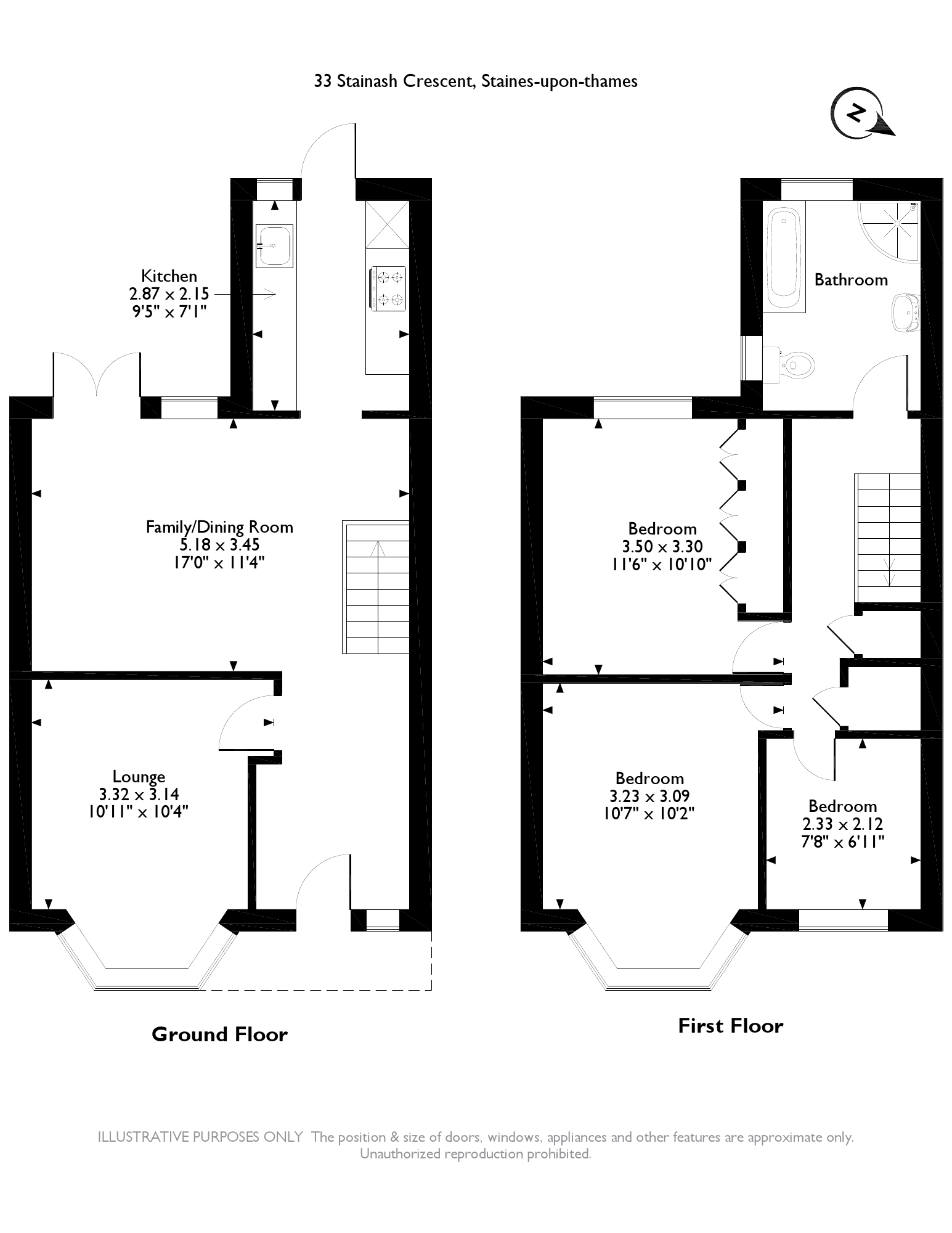 Stainash Crescent, Staines-upon-thames, TW18 floor plan