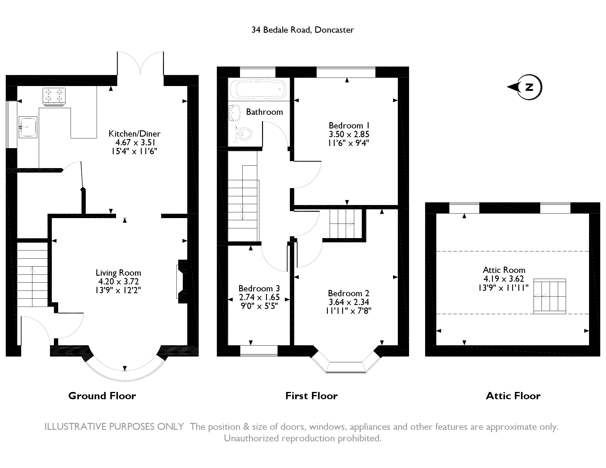 Bedale Road, Doncaster, DN5 floor plan