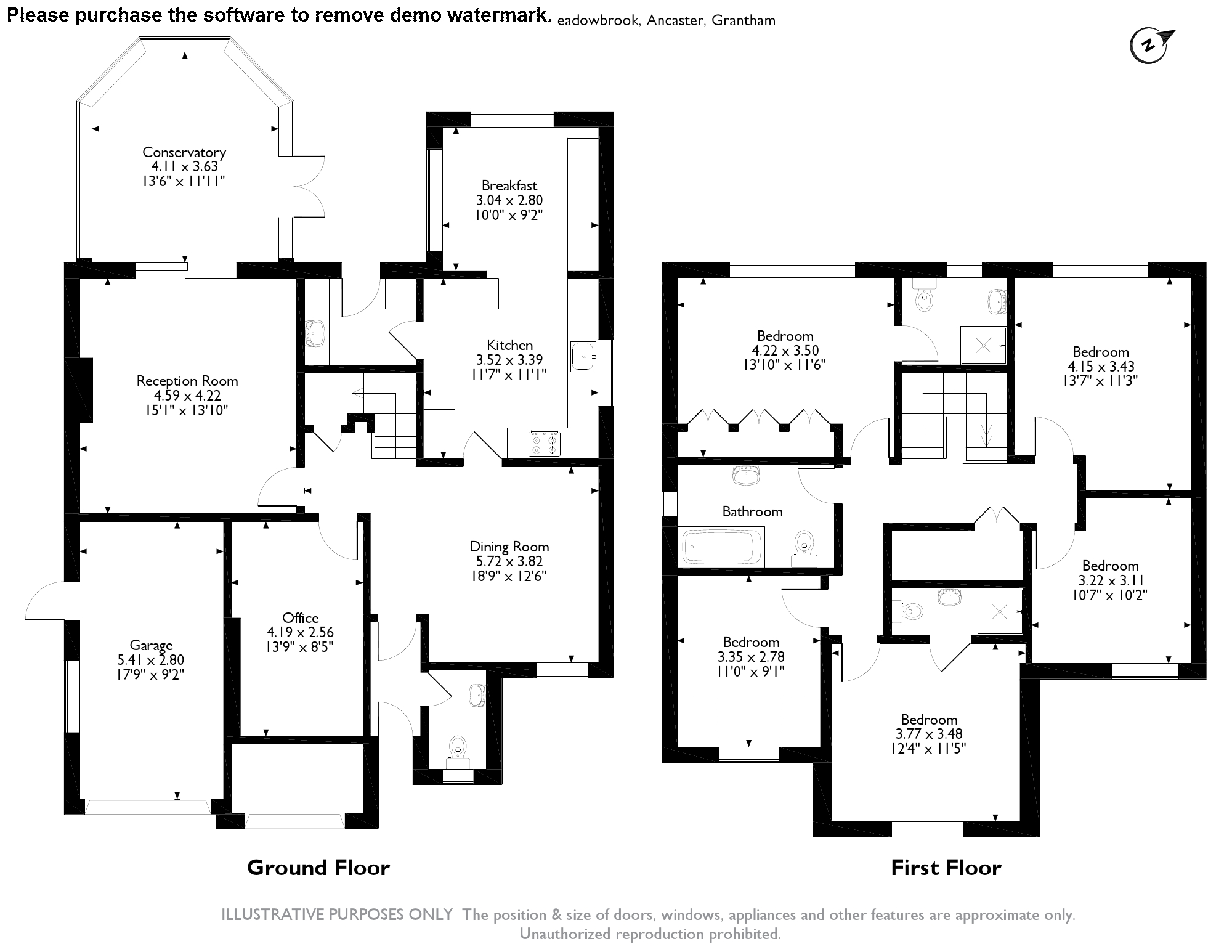 Meadowbrook, Grantham, NG32 floor plan