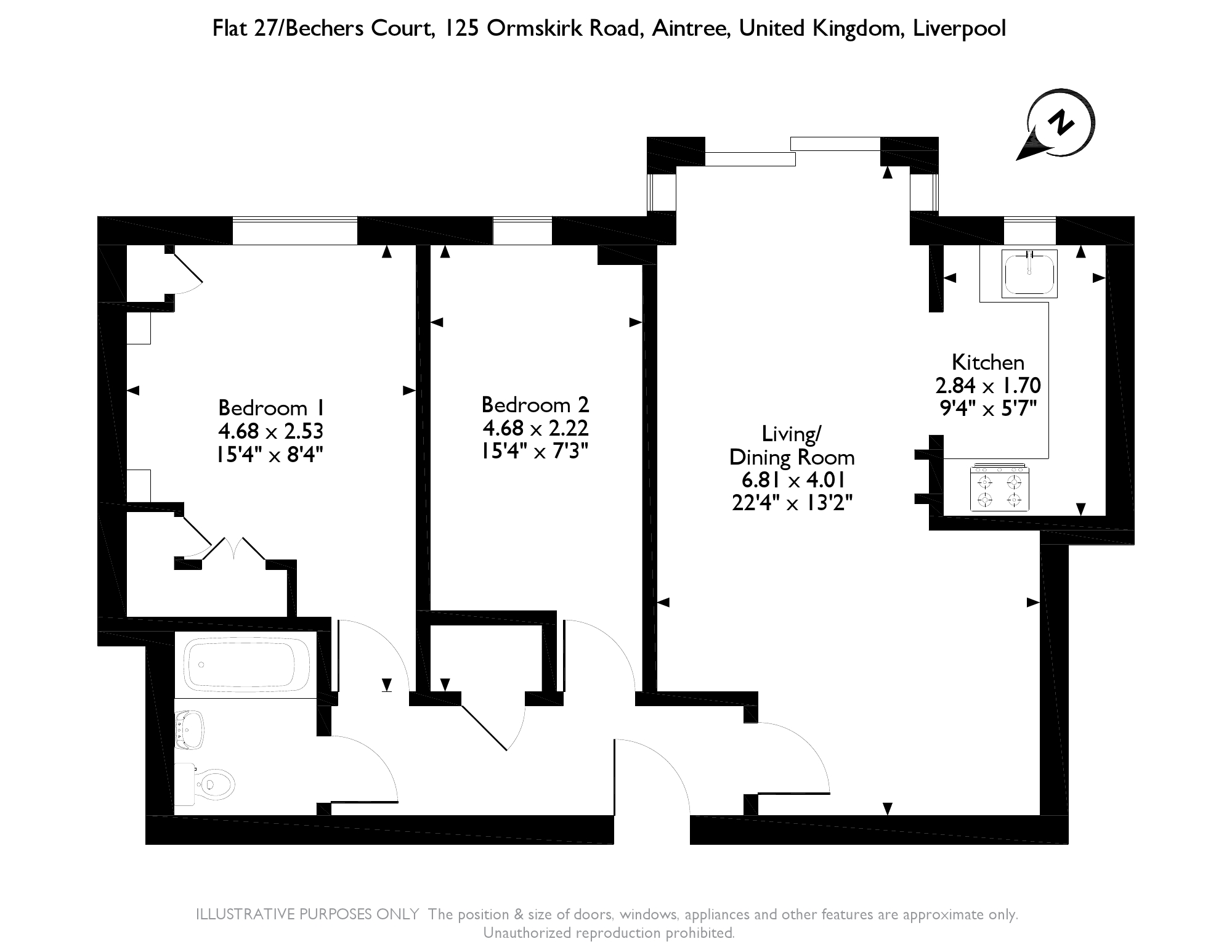 Bechers Court, Ormskirk Road floor plan