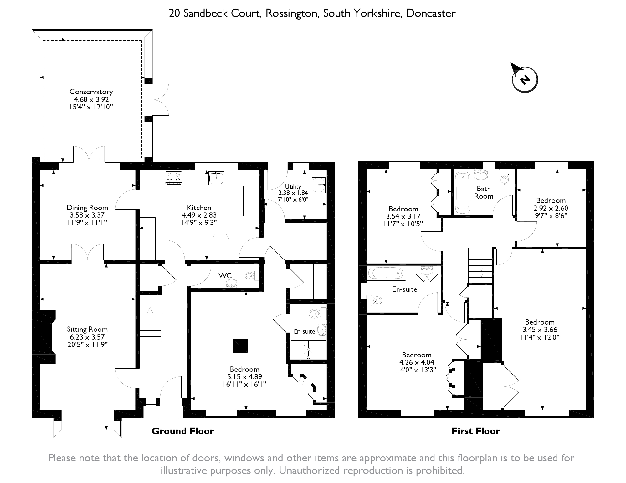 Sandbeck Court, Doncaster, South Yorkshire DN11 floor plan