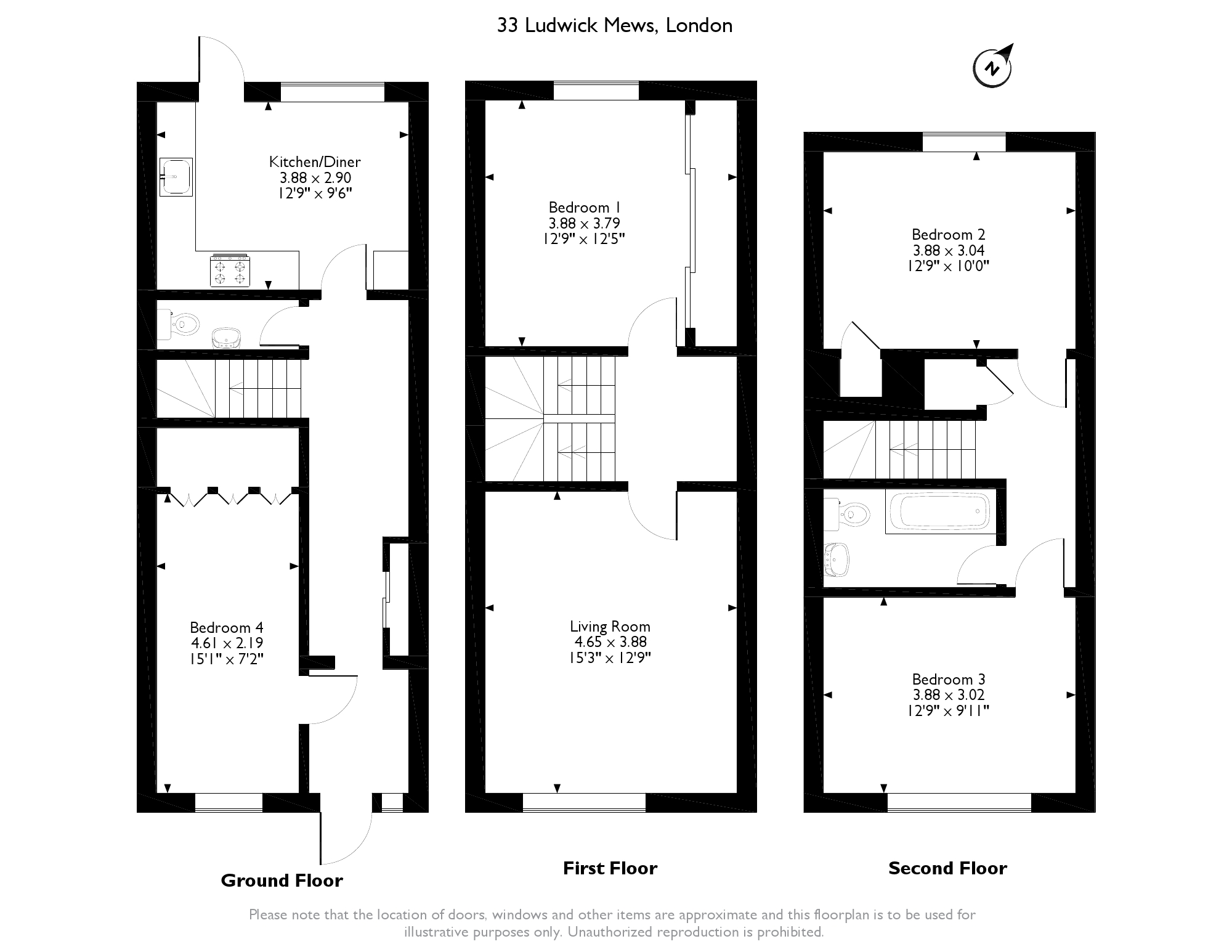 Terraced house for sale in ludwick mews london from emoov for 15 bruyeres mews floor plans