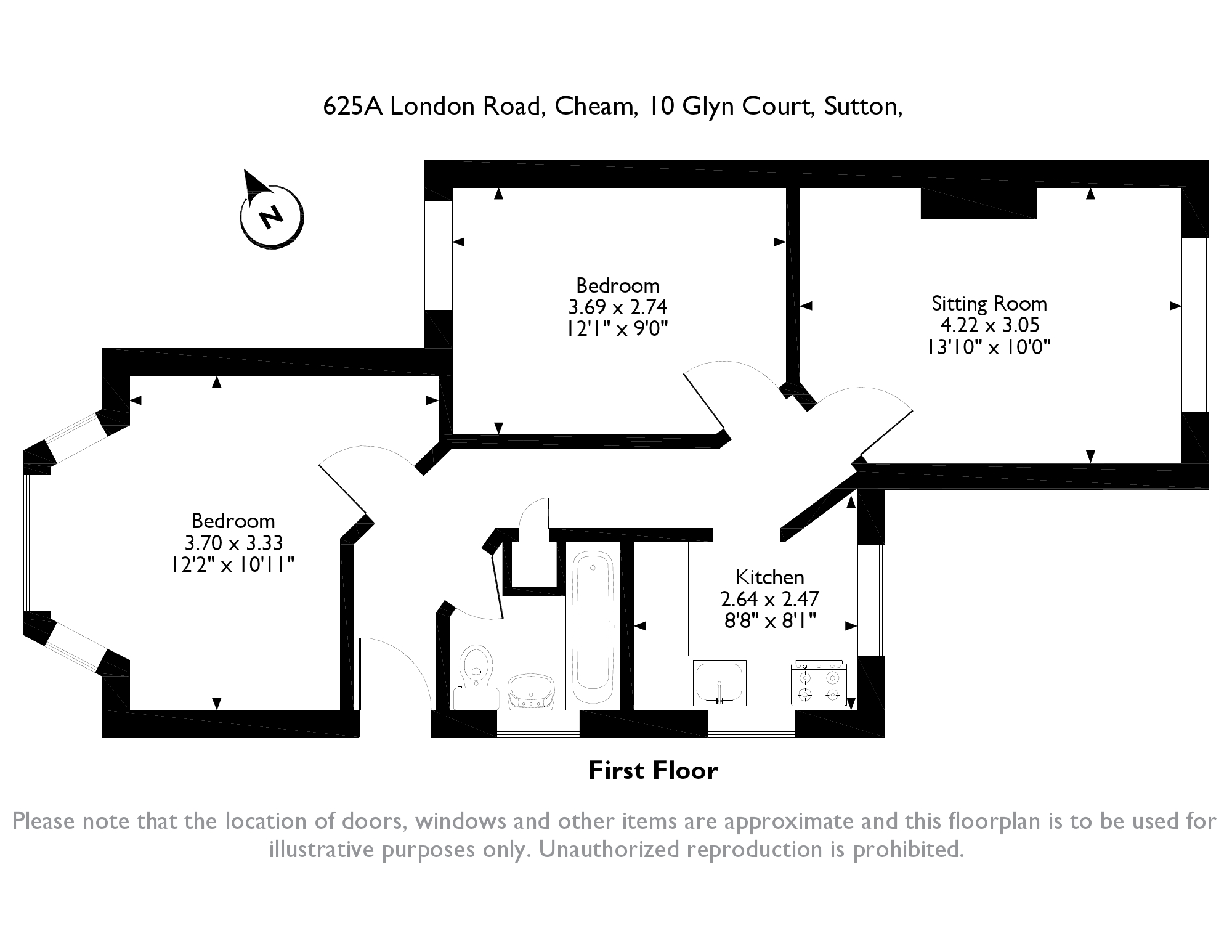 Glyn Court, London Road,  North Cheam, SM3 floor plan