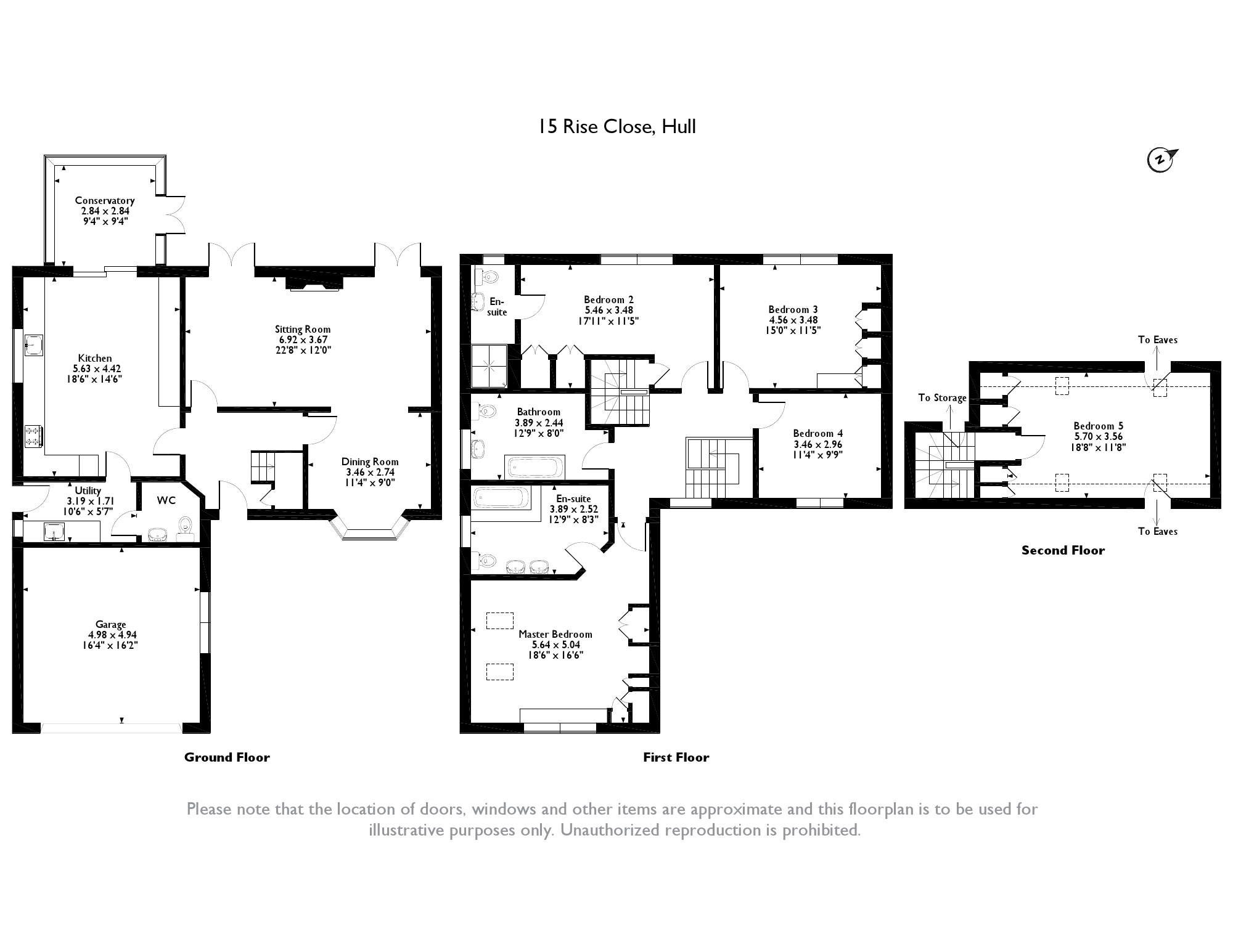 Rise Close, Hull, East Yorkshire floor plan