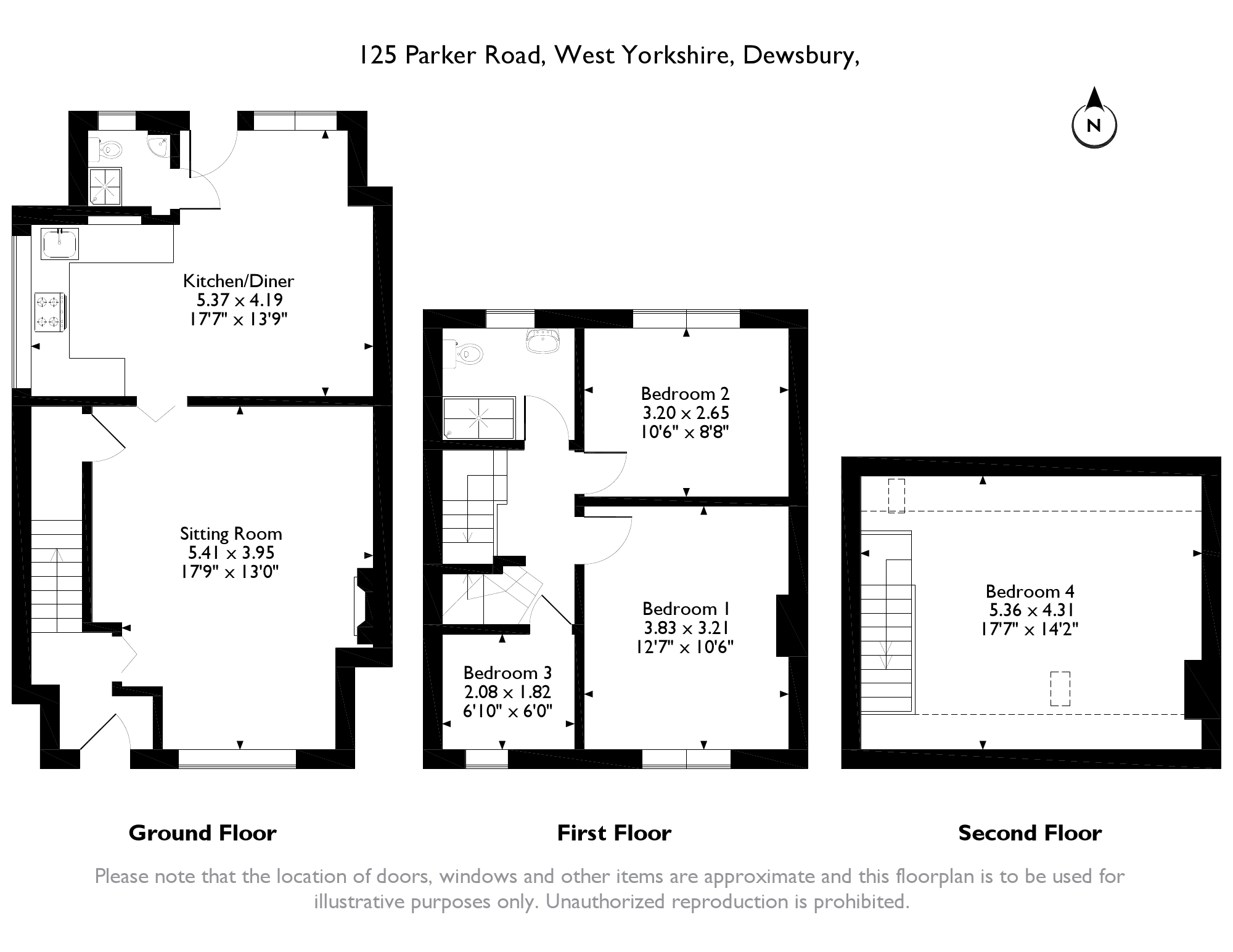 Parker Road, Dewsbury, West Yorkshire, WF12 floor plan