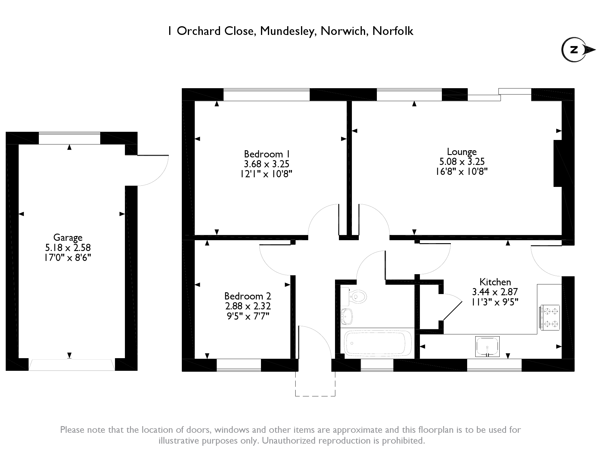 Orchard Close, Mundesley,Norwich , NR11 floor plan