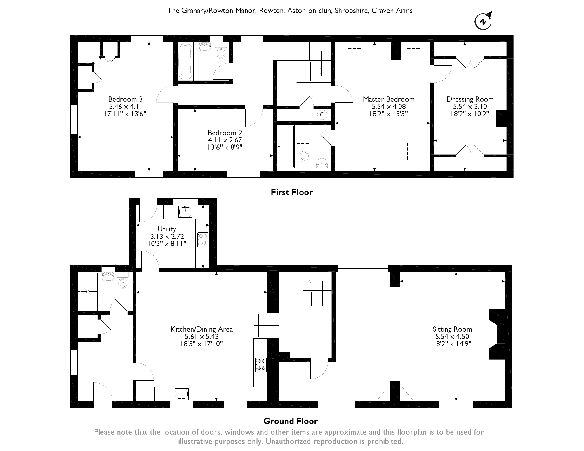 The Granary/Rowton Manor, Rowton, Craven Arms, SY7 floor plan