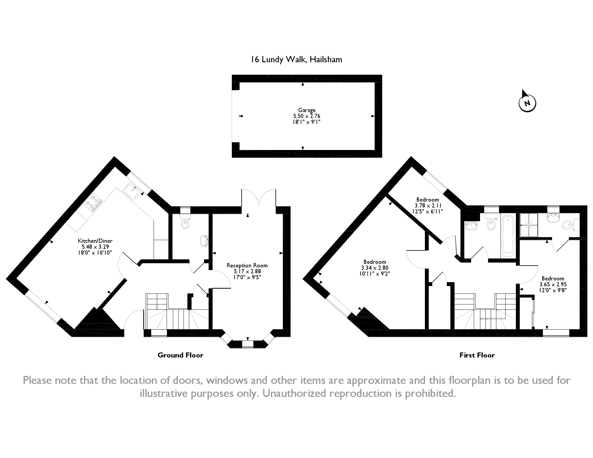 Lundy Walk, Hailsham, BN27 floor plan
