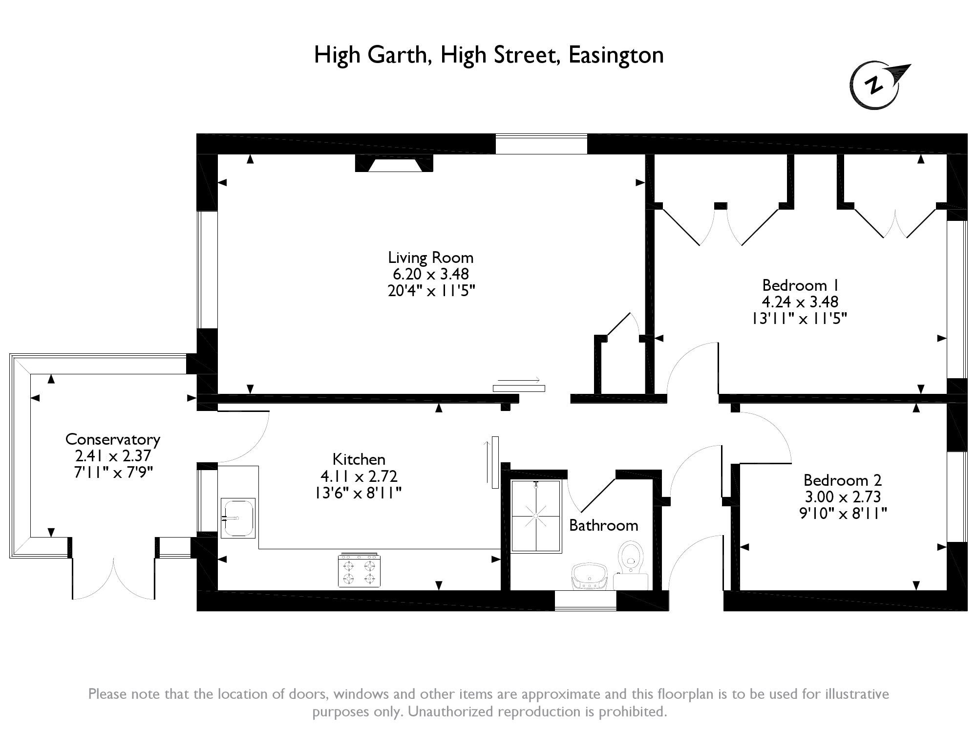 High Street, Easington, HU12 floor plan